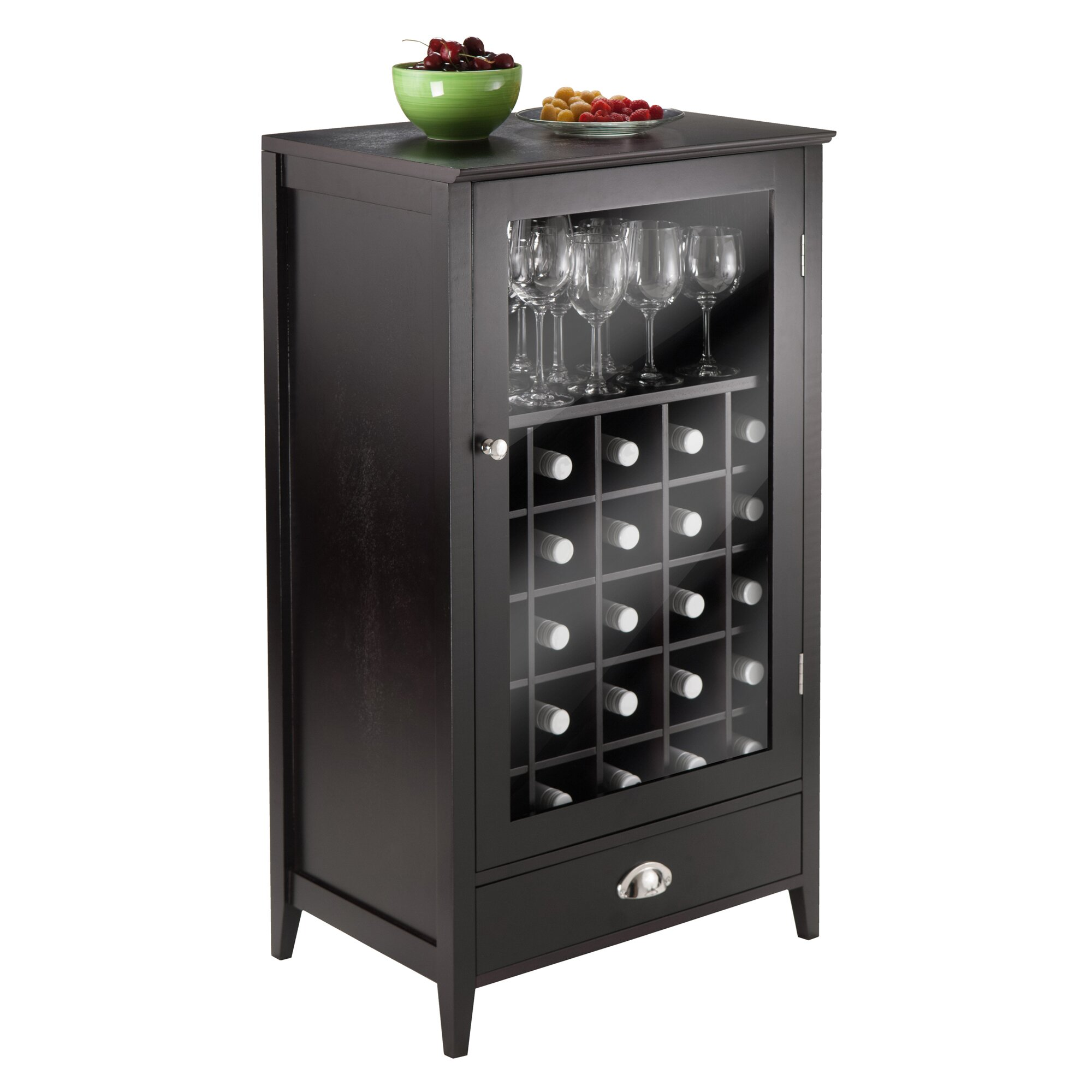 Winsome Bordeaux 25 Bottle Wine Cabinet u0026 Reviews : Wayfair