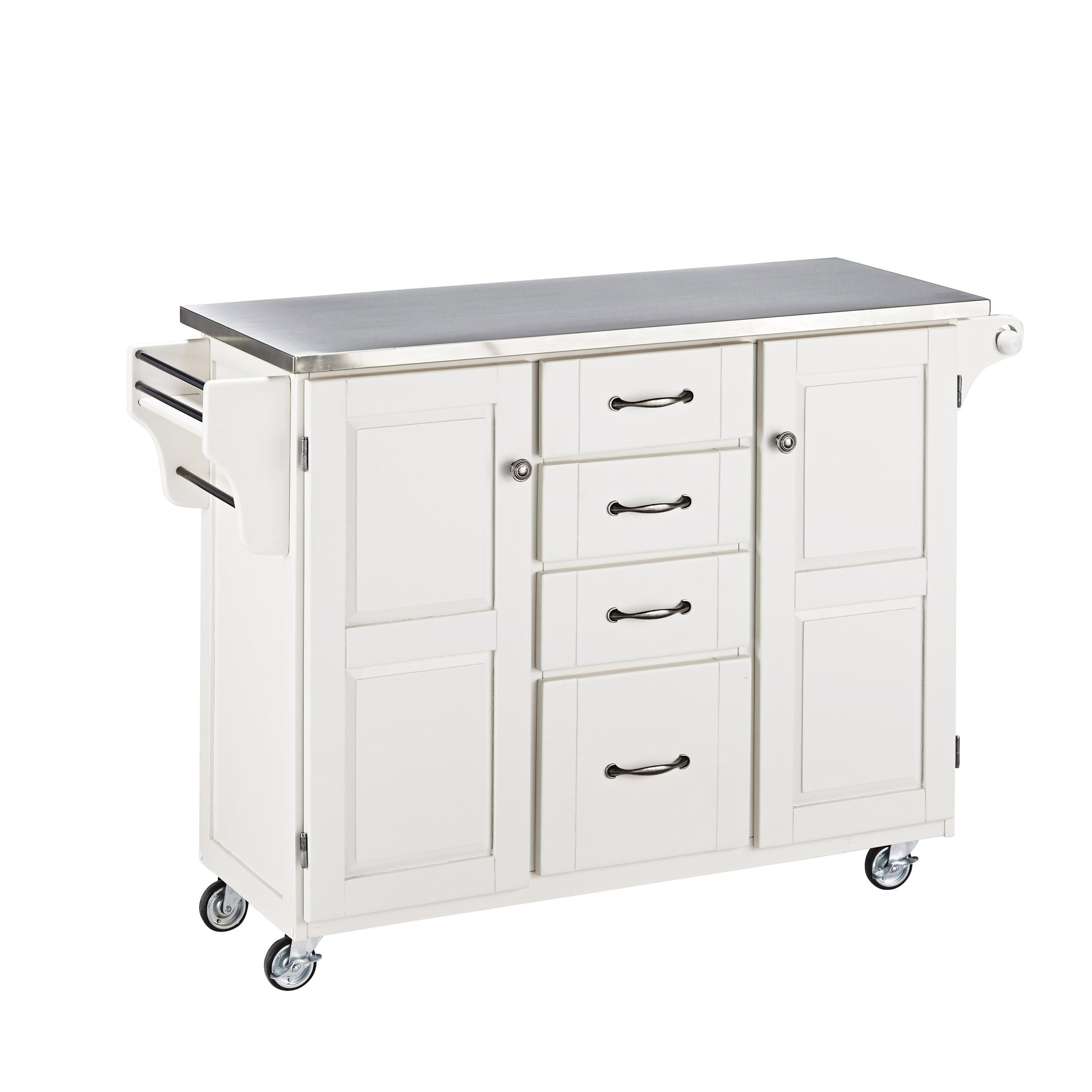 Home Styles Create-a-Cart Kitchen Island With Stainless