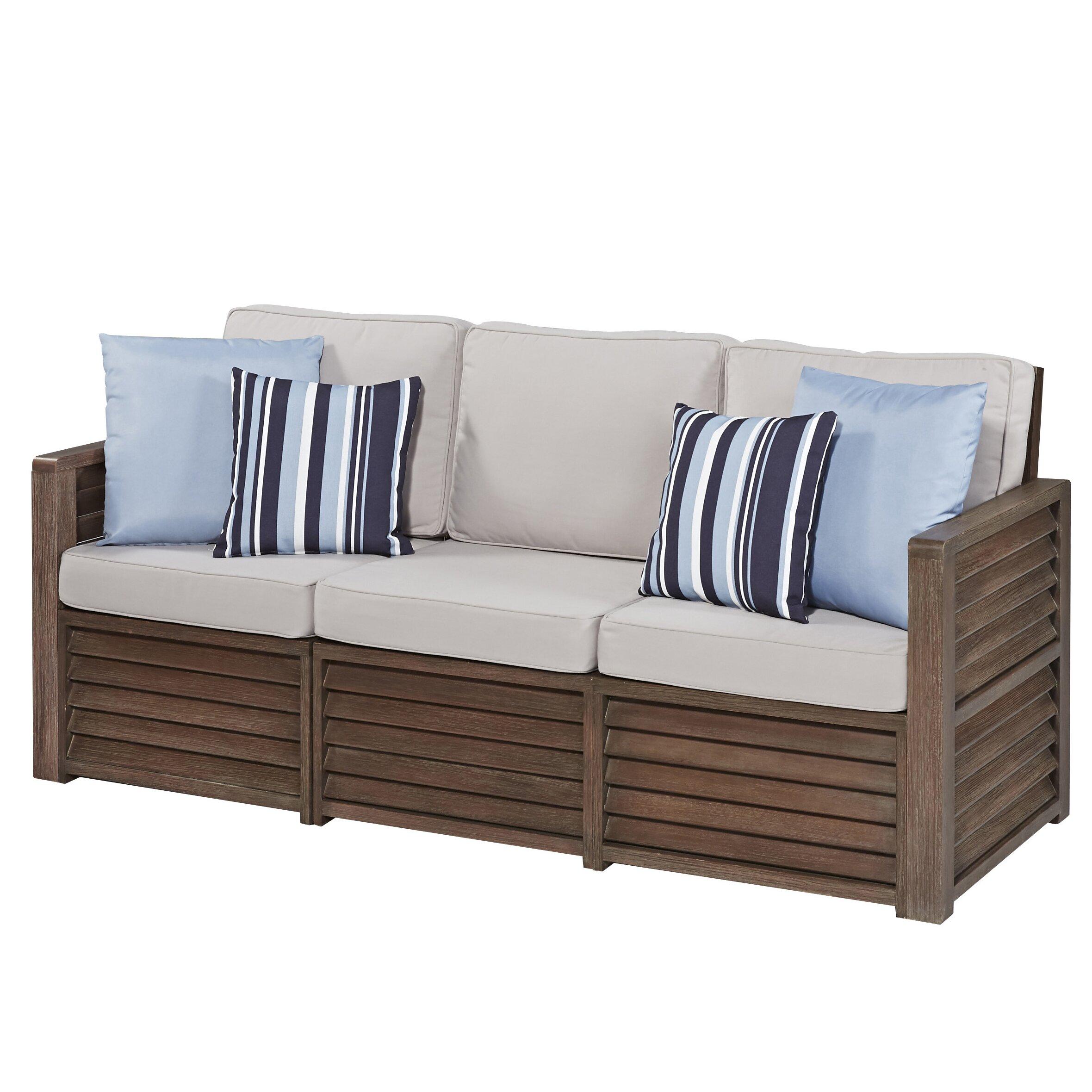 Home Styles Barnside Deep Seating Sofa with Cushions ...