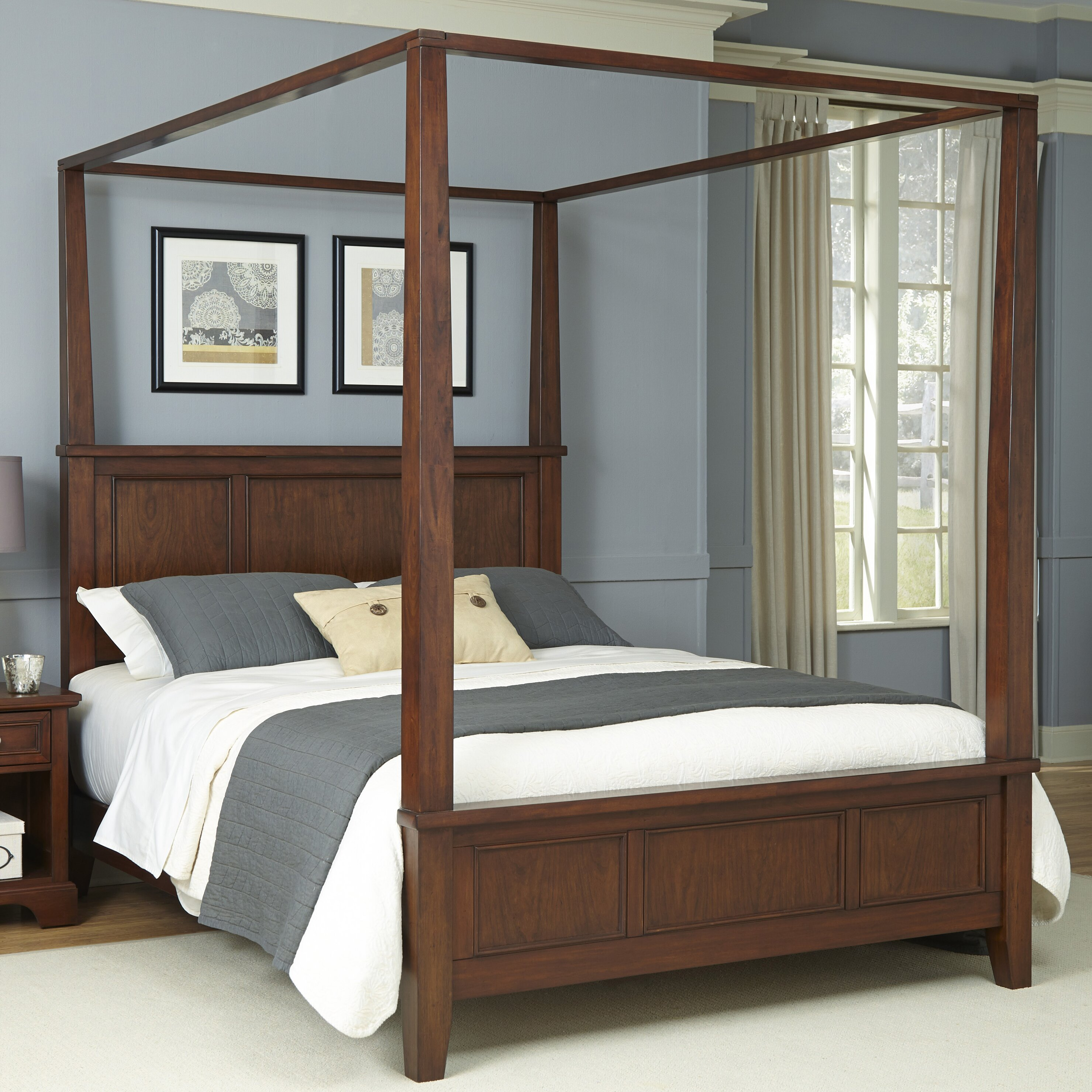 home styles chesapeake canopy bed reviews wayfair