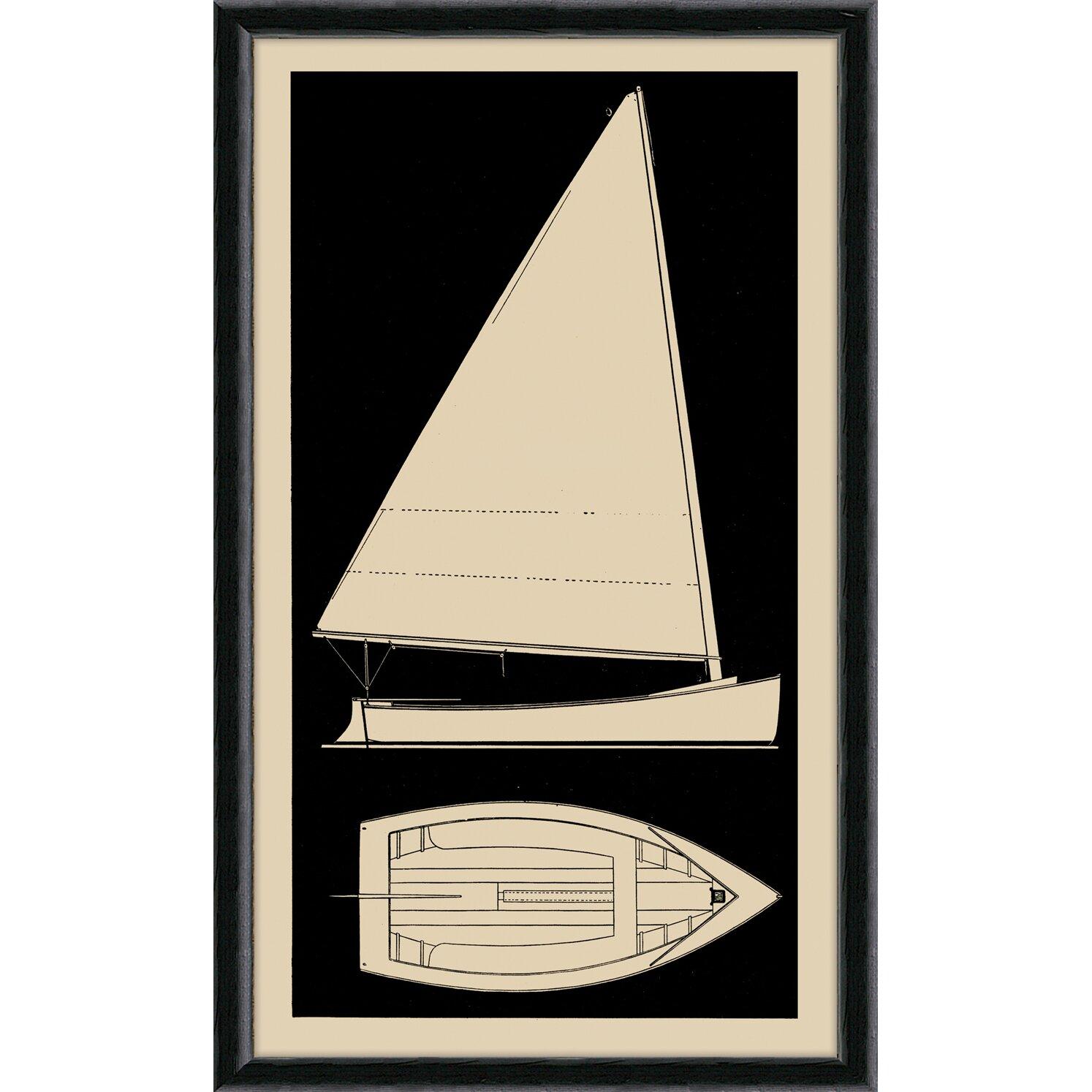 Sailboat I Framed Graphic Art : Wayfair