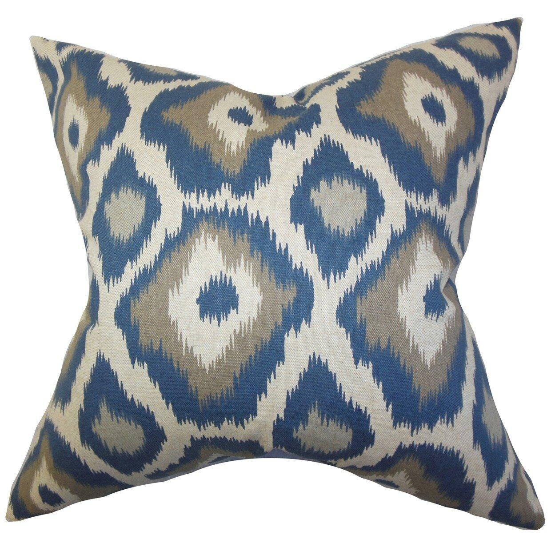 Wayfair Green Throw Pillows : The Pillow Collection Becan Ikat Cotton Throw Pillow & Reviews Wayfair