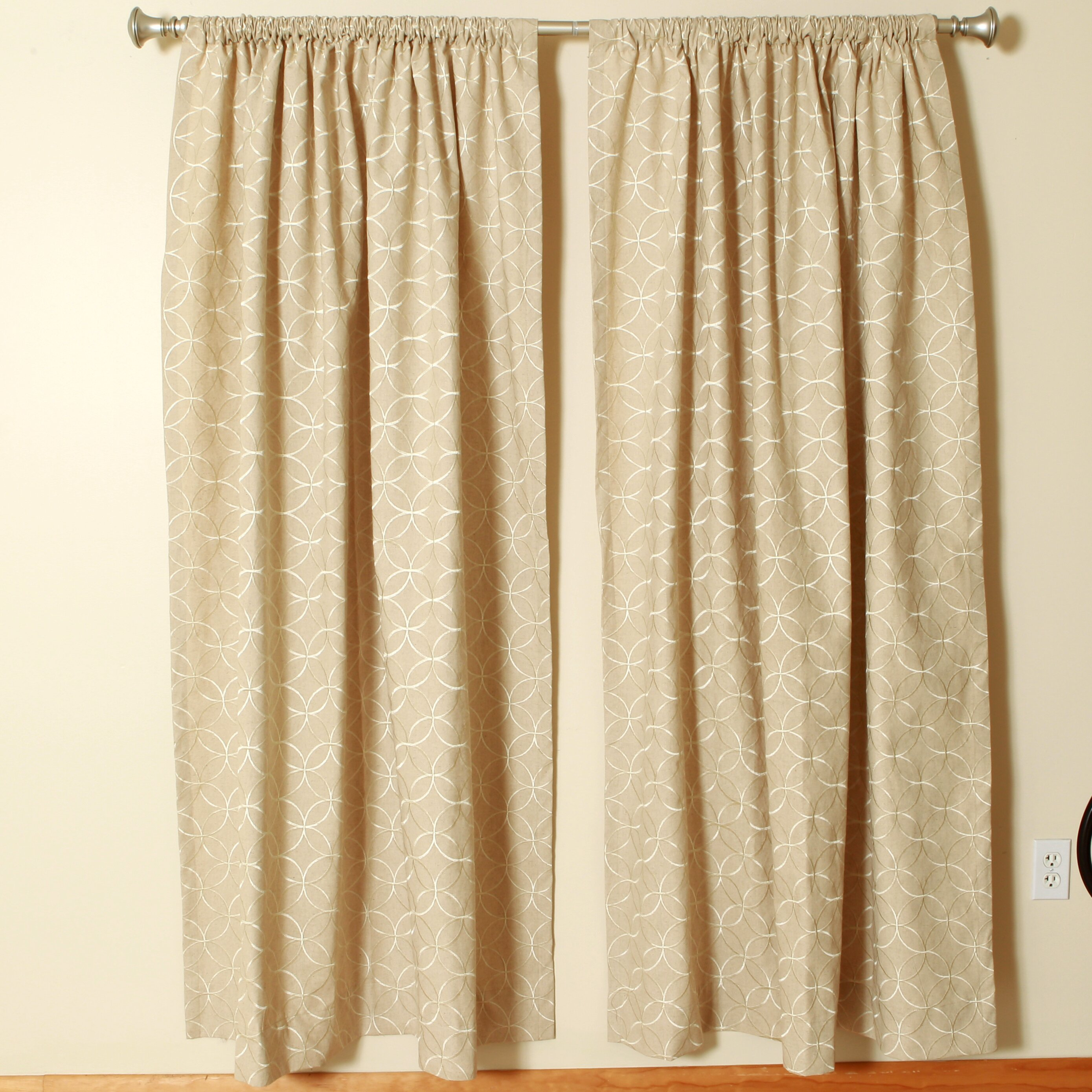 Linen Rod Pocket Curtain Panels by The Pillow Collection