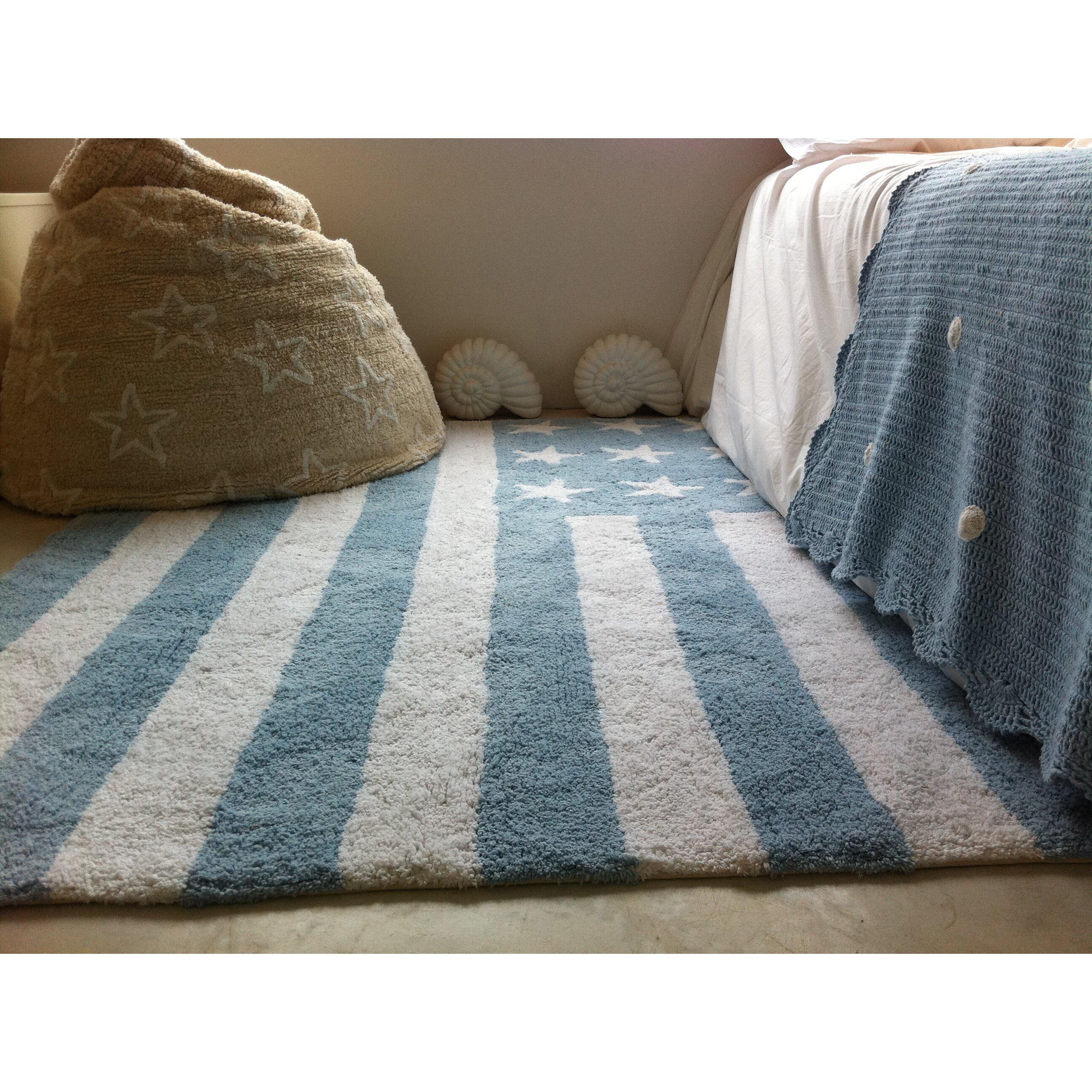 handgetufteter teppich in blau von lorena canals. Black Bedroom Furniture Sets. Home Design Ideas