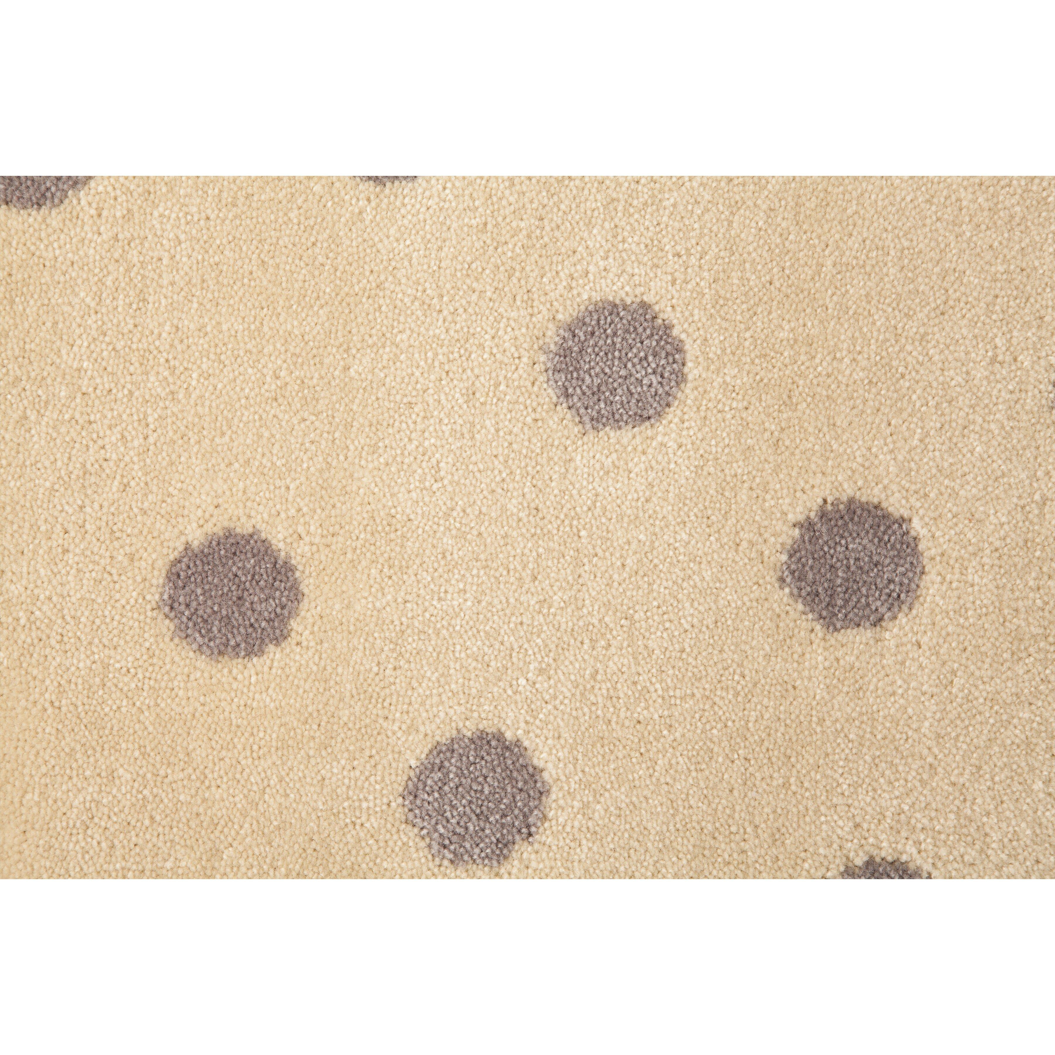 teppich dots in leinen und beige von lorena canals. Black Bedroom Furniture Sets. Home Design Ideas