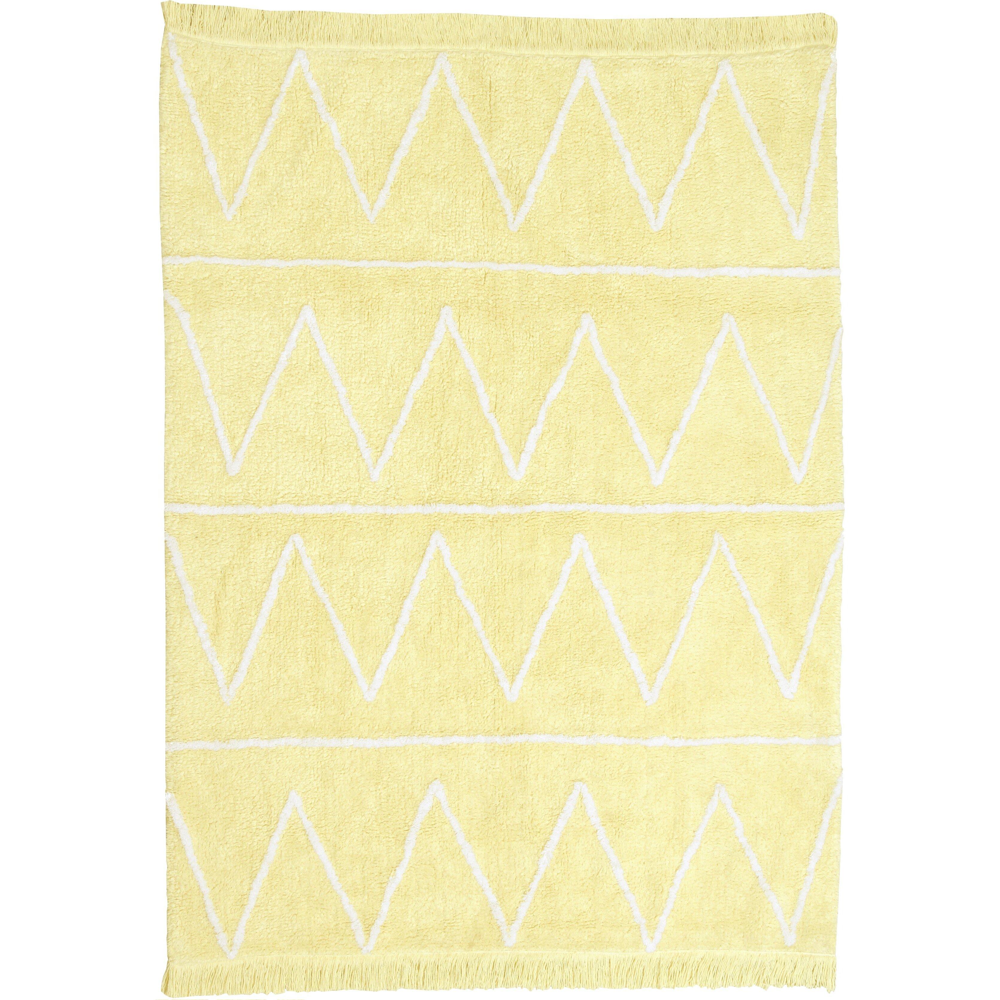 handgetufteter teppich hippy in gelb von lorena canals. Black Bedroom Furniture Sets. Home Design Ideas