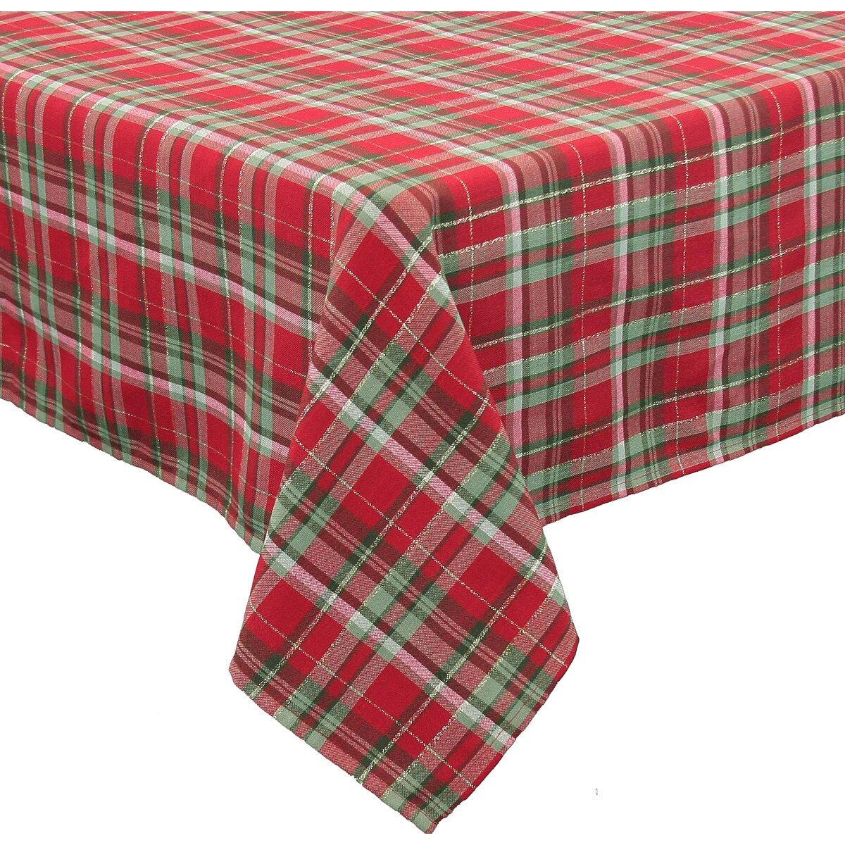 Xia Home Fashions Holiday Tartan Christmas Tablecloth ...