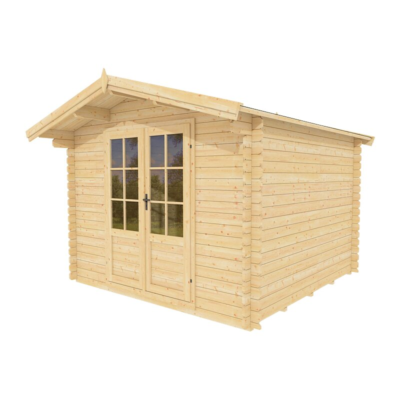 Solidbuild douglas w x 8ft d solid wood garden for Garden shed 9 x 5