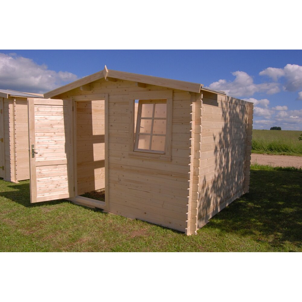 Optima 10 ft w x 10 ft d solid wood garden shed wayfair for Garden shed 9 x 5