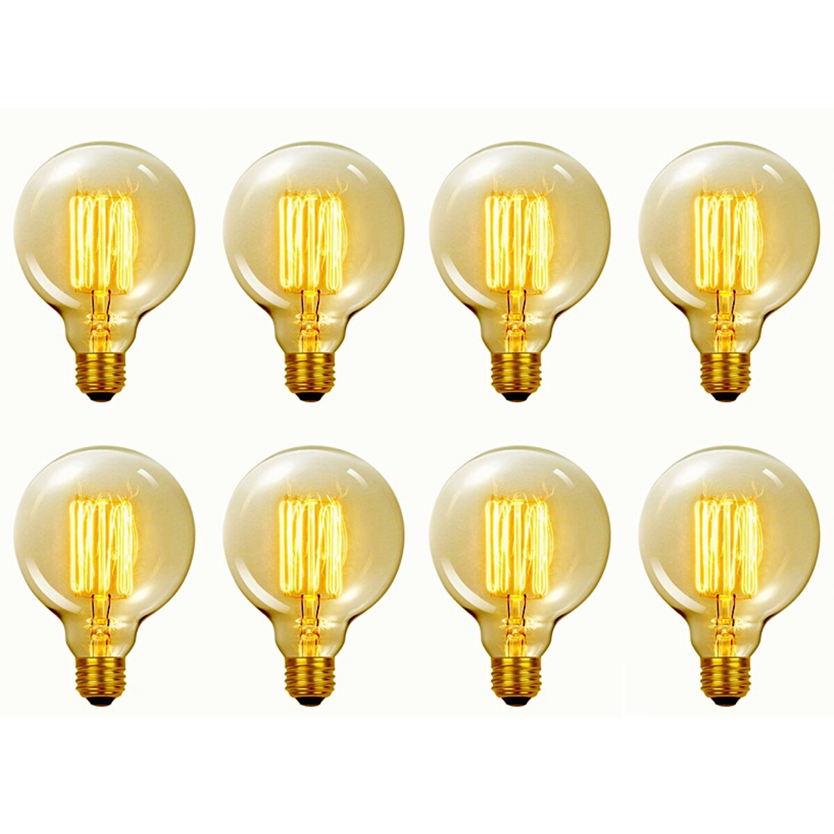 Vanity Light Bulbs Daylight : Globe Electric Company Vintage Edison 60 Watt (2700K) G40 Vanity Tungsten Incandescent Filament ...