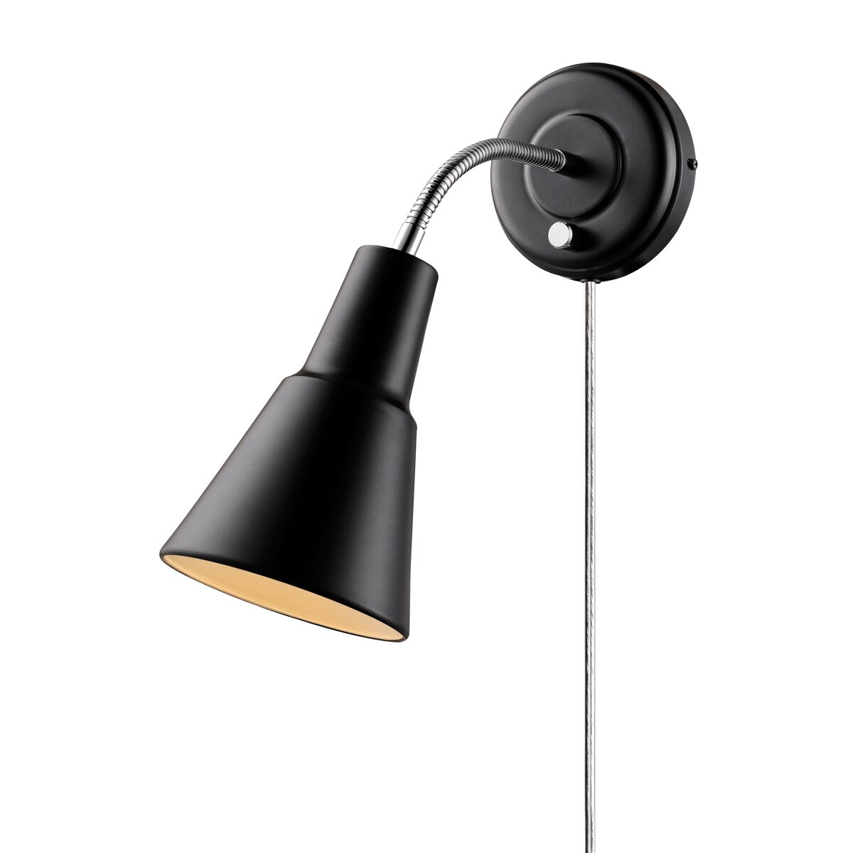 Wall Sconce Task Light : 1 Light Plug In Task Wall Sconce with Hardwire Conversion Kit Wayfair