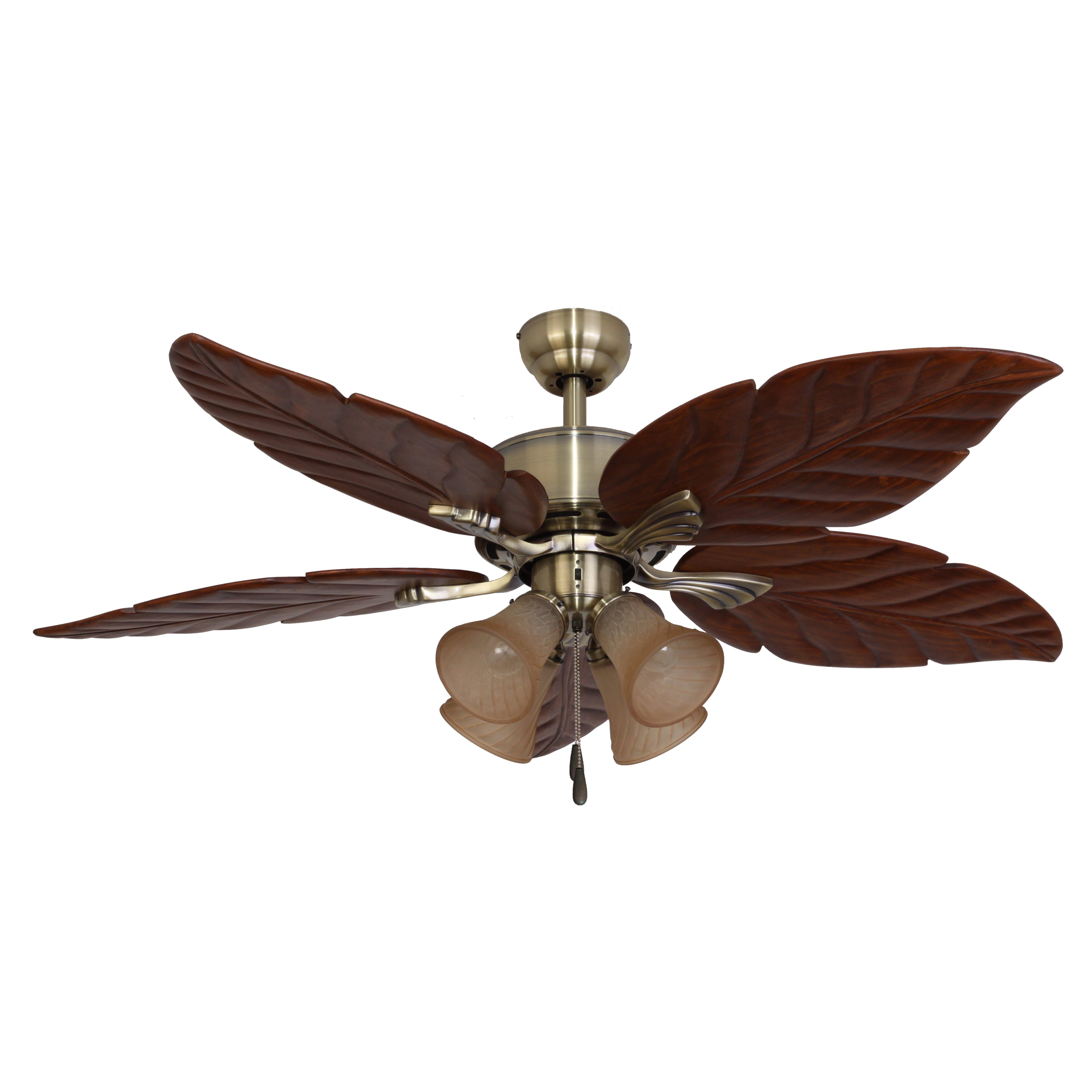 """Calcutta 52"""" St. Marks 4 Light 5 Blade Ceiling Fan"""