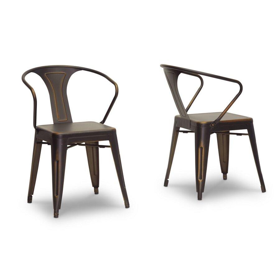 Baxton studio french industrial arm chair wayfair