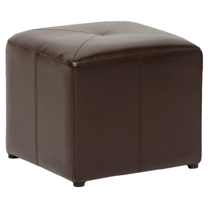 small square upholstered ottoman 1