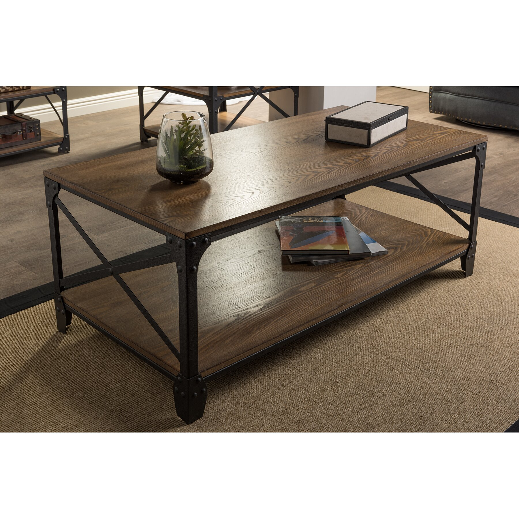 Vintage Casual Coffee Tables: Wholesale Interiors Baxton Studio Coffee Table & Reviews