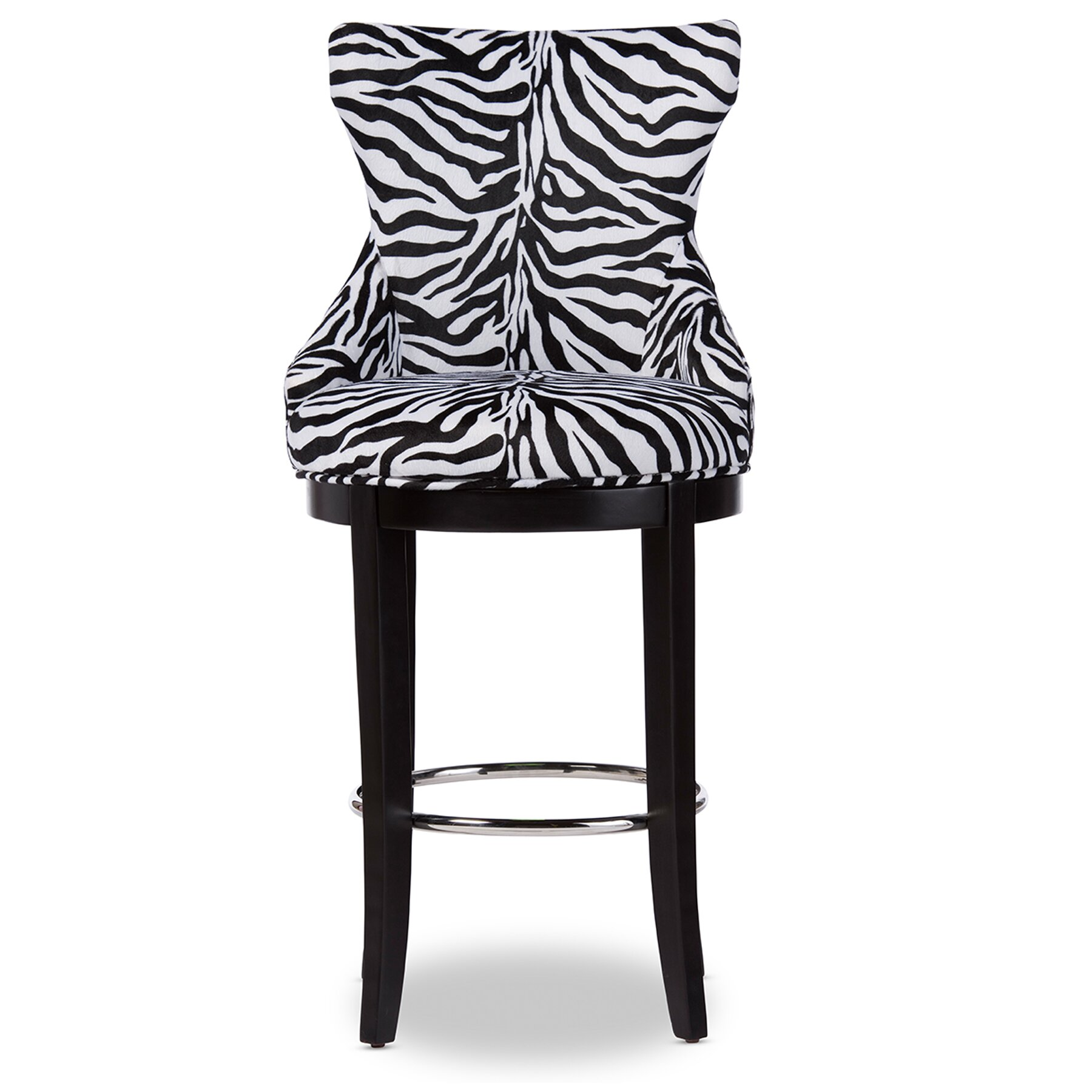 Wholesale Interiors Baxton Studio 2964quot Bar Stool  : Baxton Studio Peace Modern and Contemporary Zebra print Patterned Fabric Upholstered Bar Stool with Metal Footrest WS 2075 Zebra from www.wayfair.com size 1800 x 1800 jpeg 195kB