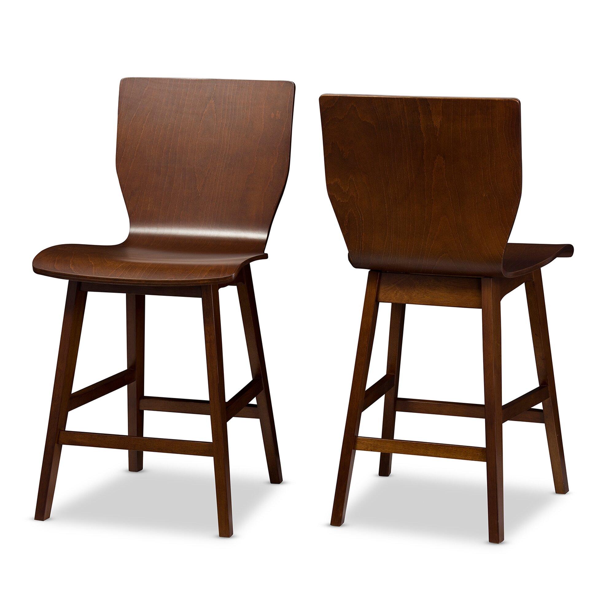 Mid century modern bar stools admiral second sun co