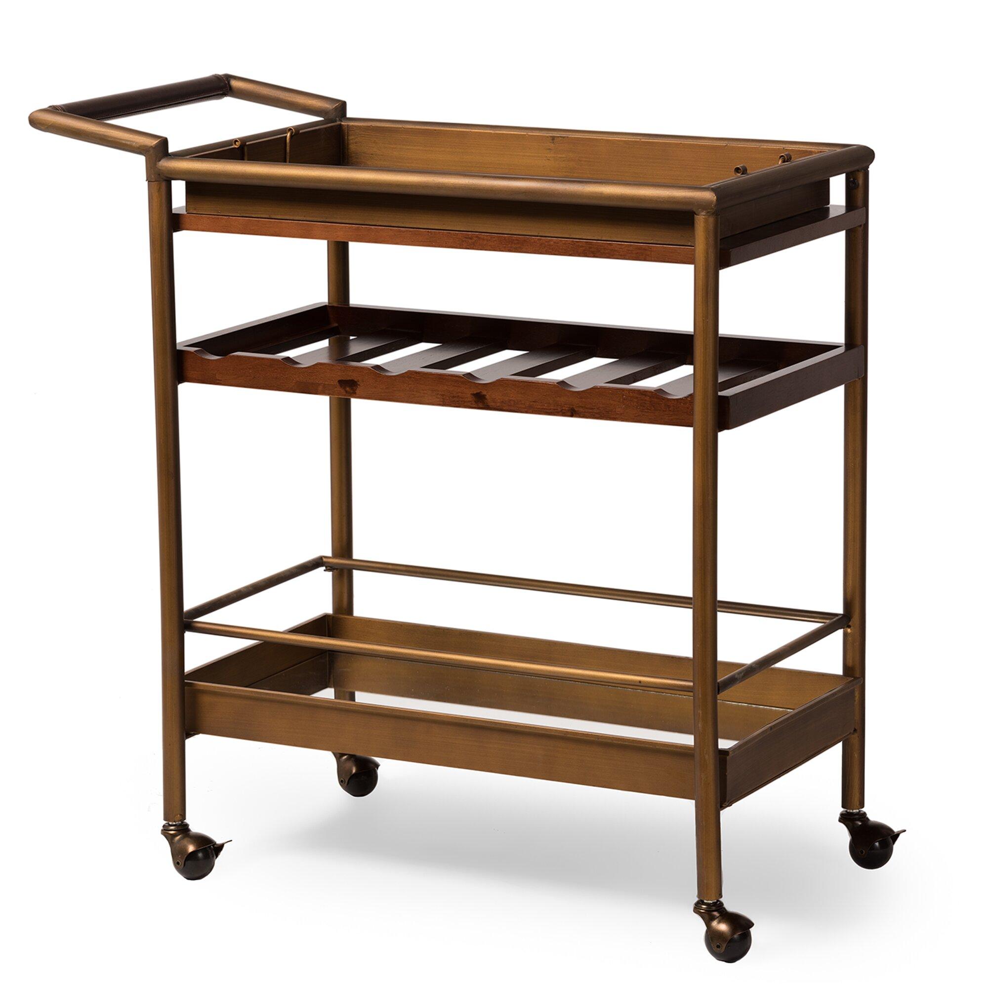 Industrial Bar Cart Bar Cart Kitchen Cart Serving Cart: Wholesale Interiors Rodolfo Serving Cart & Reviews