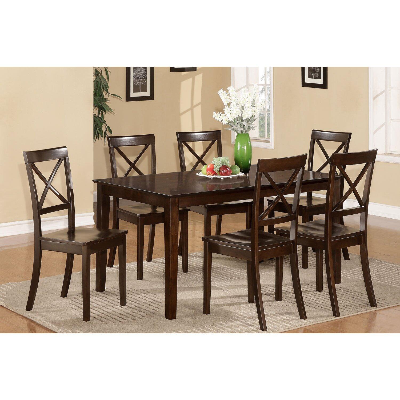East west capri 7 piece dining set reviews wayfair for Furniture 7 credit reviews