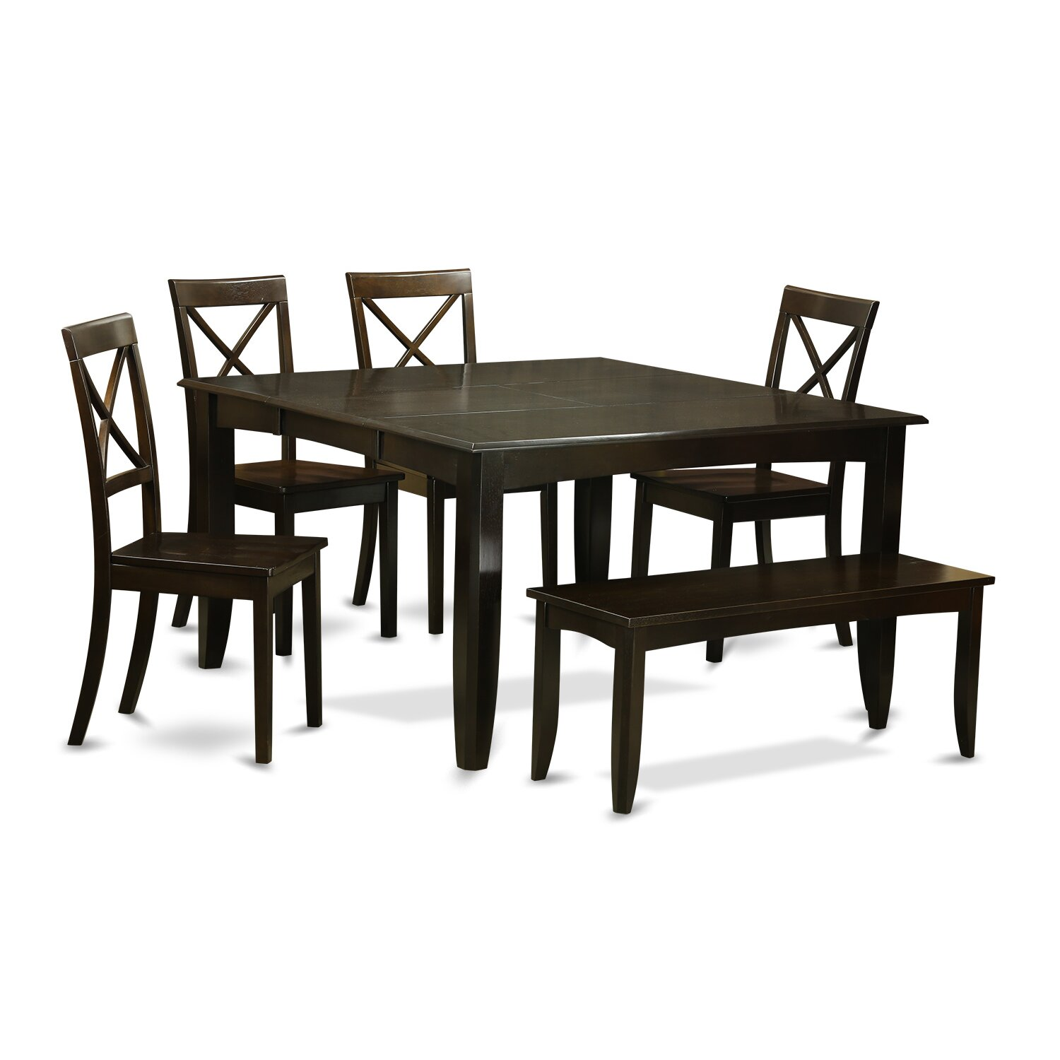 Piece Dining Room Set With Bench Dining Table With Leaf And 4