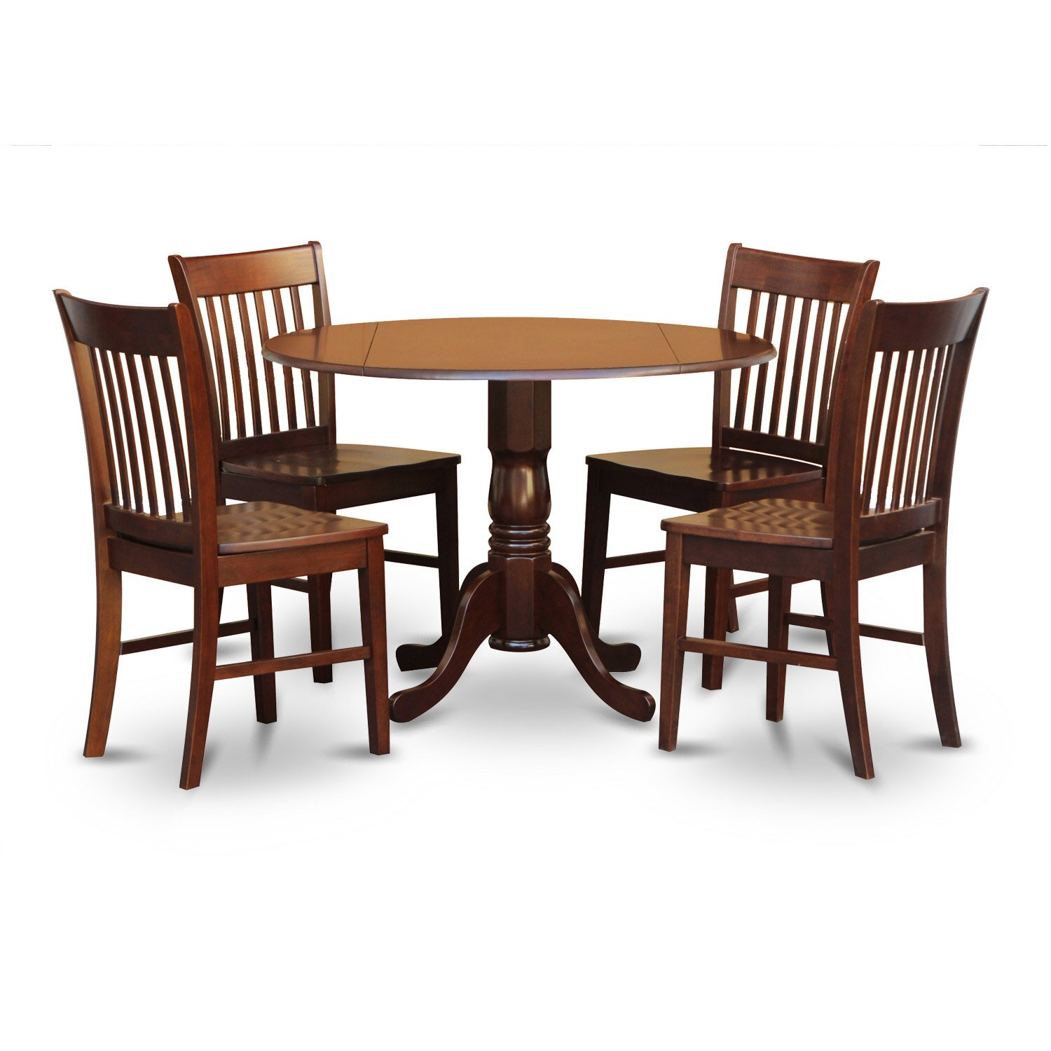 Round Kitchen Table And Chairs: East West Dublin 5 Piece Dining Set & Reviews