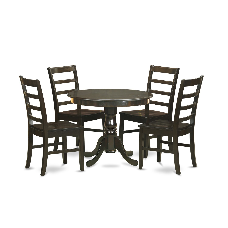 5 piece dining set wayfair. Black Bedroom Furniture Sets. Home Design Ideas