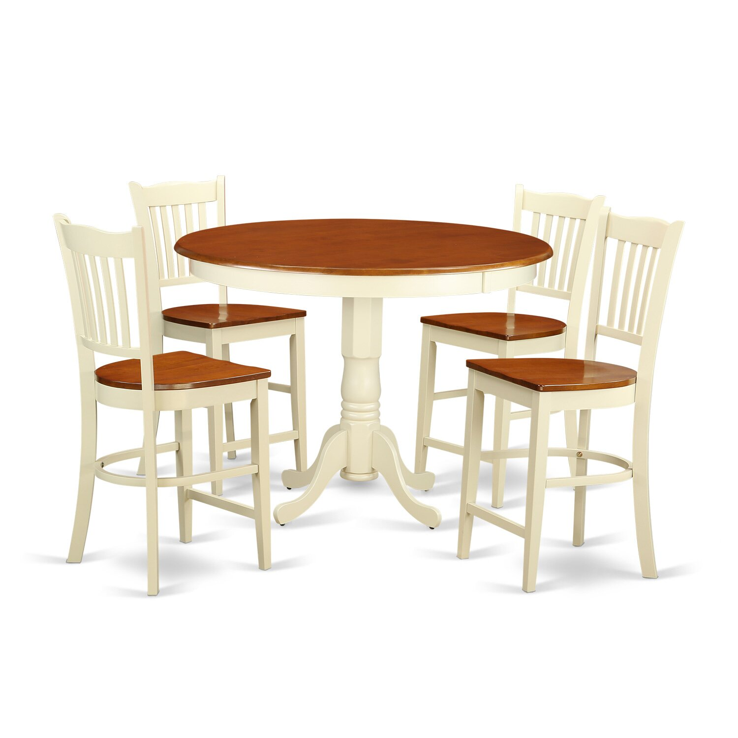 pc counter height dining table set high top table and 4 bar stools