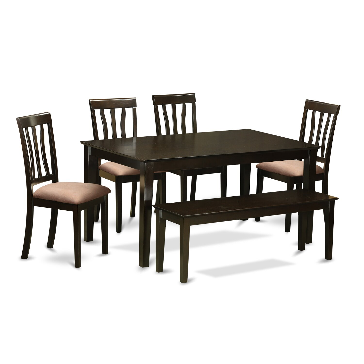 Capri 6 piece dining set wayfair for Table a manger plus 6 chaise