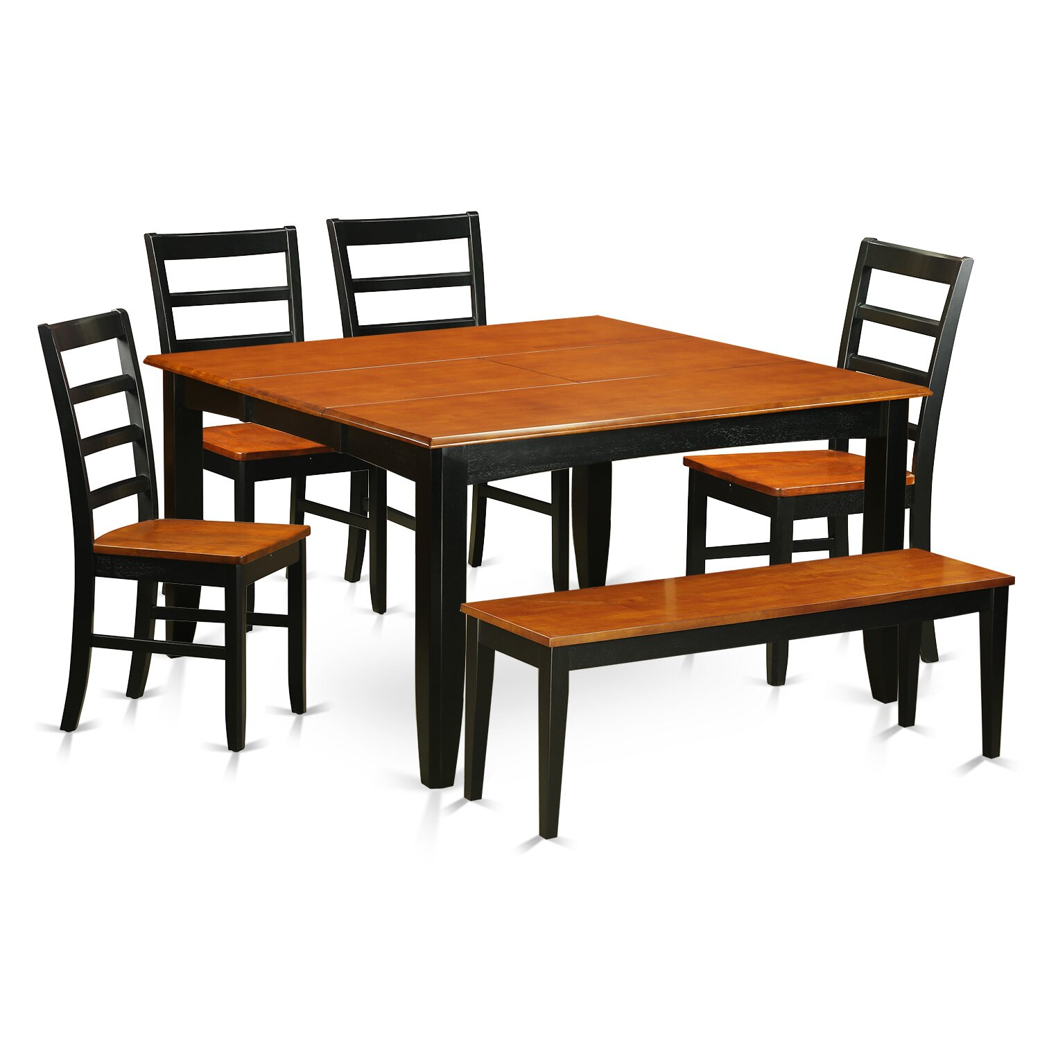 Wayfair Dining Room Chairs Curved Dining Bench Kitchen: Parfait 6 Piece Dining Set