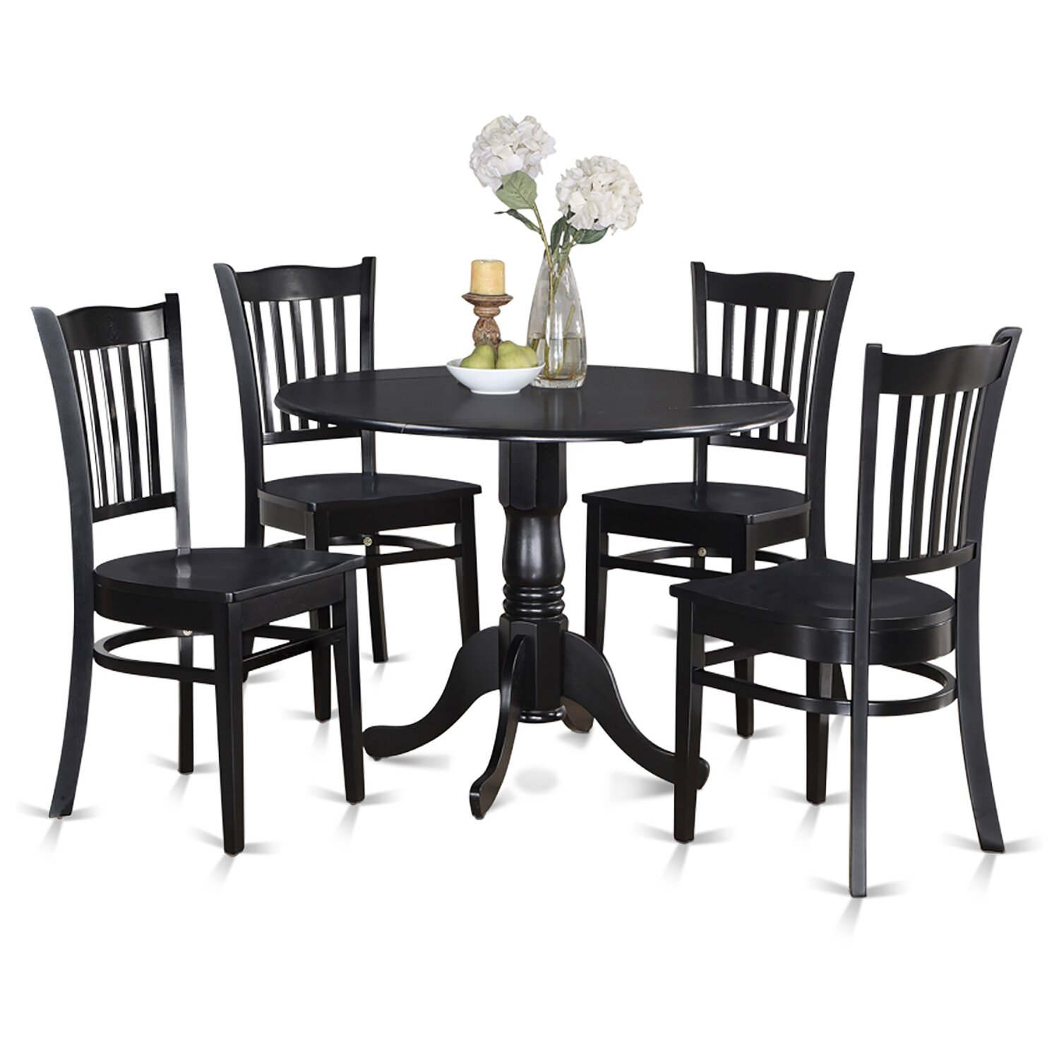 Kitchen Table And Chairs Dublin: Wooden Importers Dublin 5 Piece Dining Set & Reviews