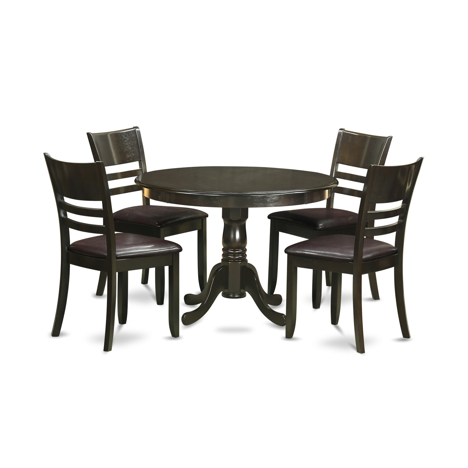 Hartland 5 piece dining set wayfair for Small table and 4 chair set