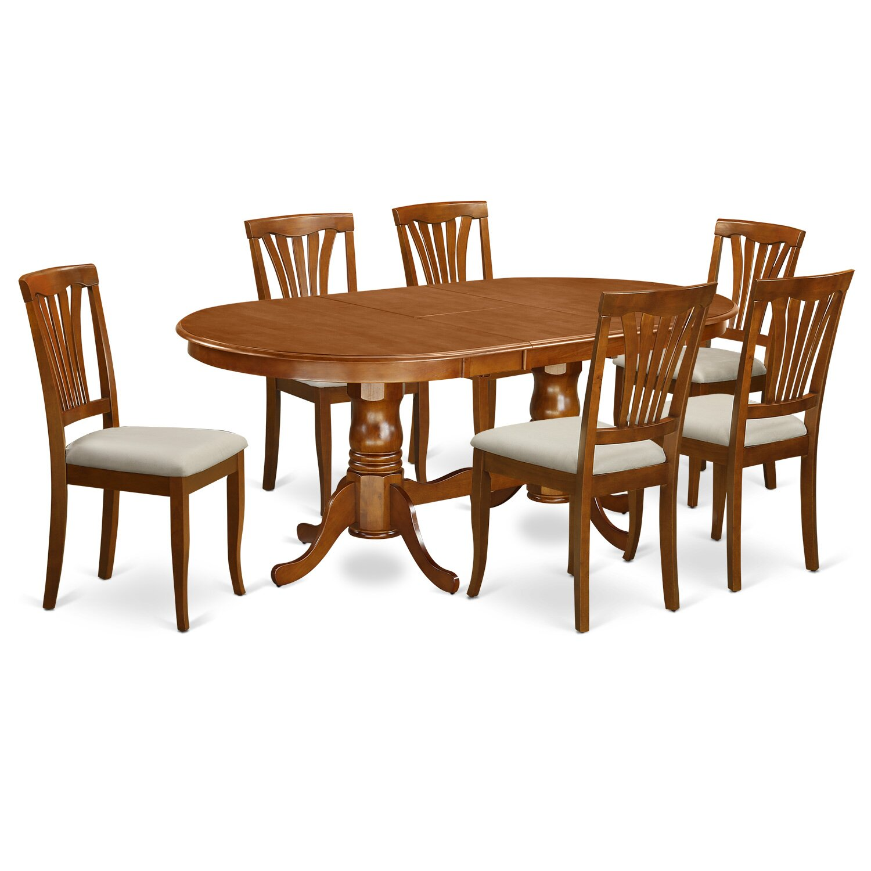 Wooden Importers Avon 7 Piece Dining Set: Wooden Importers Plainville 7 Piece Dining Set & Reviews