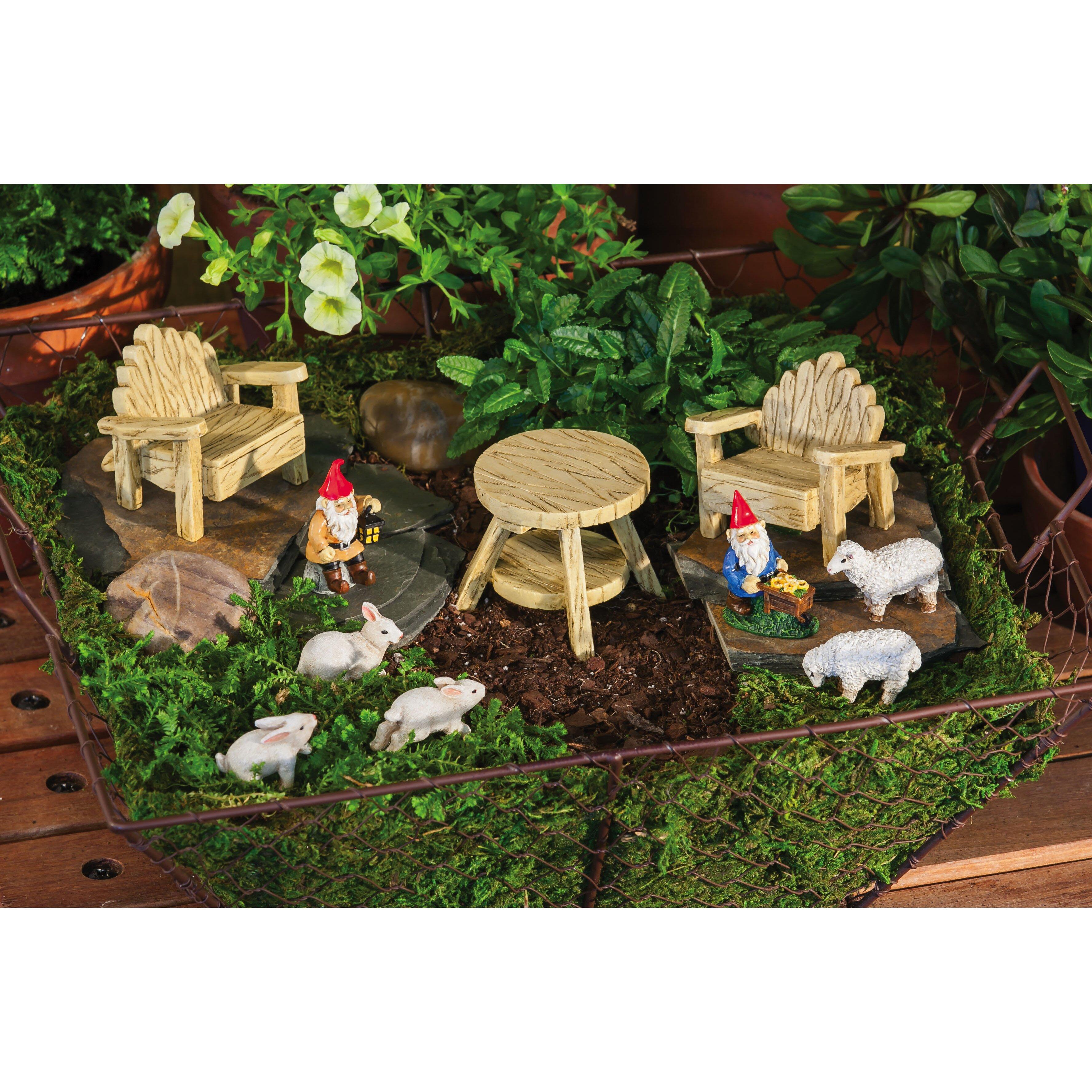 New Creative Rustic Garden Furniture Set Statue & Reviews