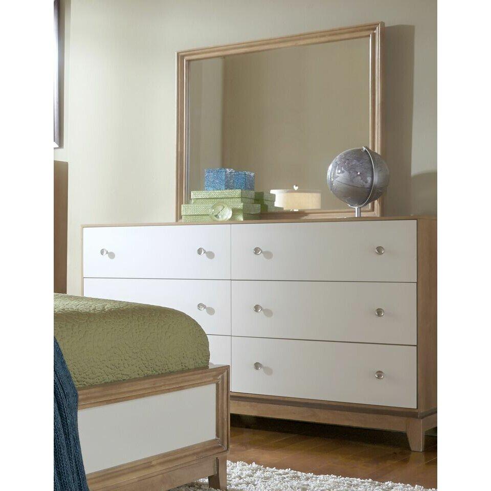 Progressive Furniture Inc. Hashtag FUN 6 Drawer Dresser With Mirror