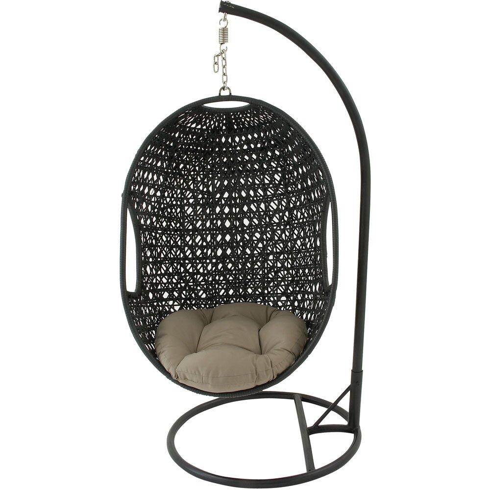 Wicker Pod Swing Chair | Wayfair
