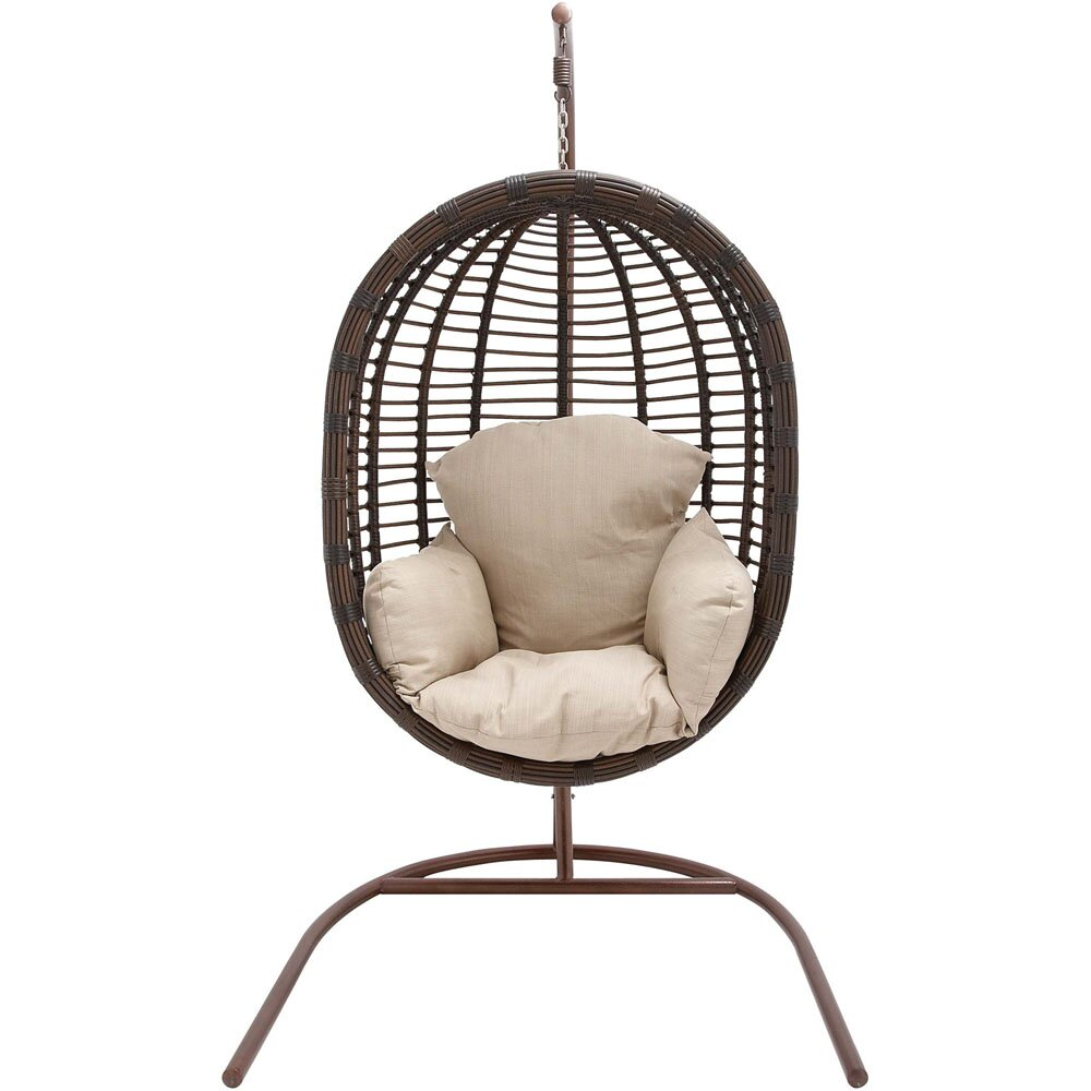 wicker pod swing chair wayfair. Black Bedroom Furniture Sets. Home Design Ideas