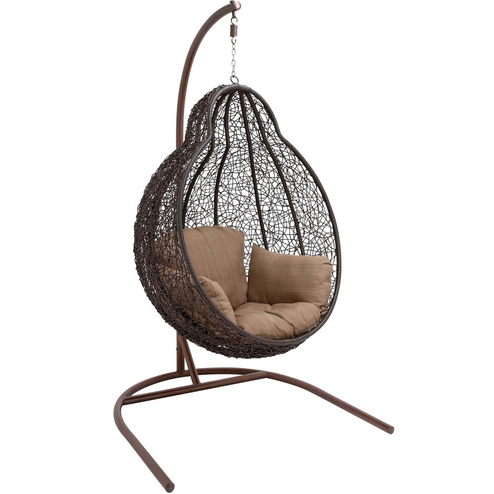 hanover wicker pod swing chair reviews wayfair. Black Bedroom Furniture Sets. Home Design Ideas