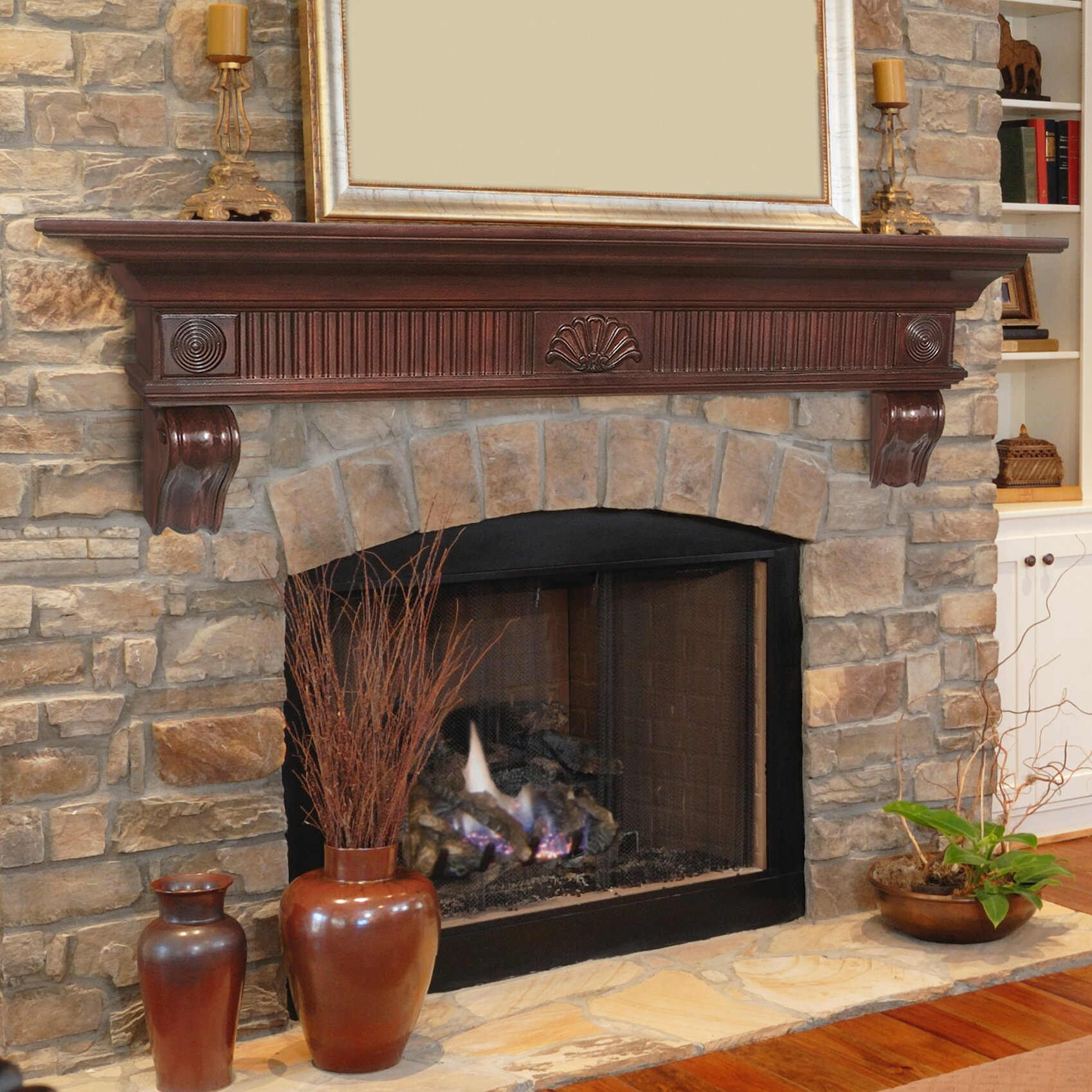 pearl mantels devonshire fireplace mantel shelf reviews. Black Bedroom Furniture Sets. Home Design Ideas