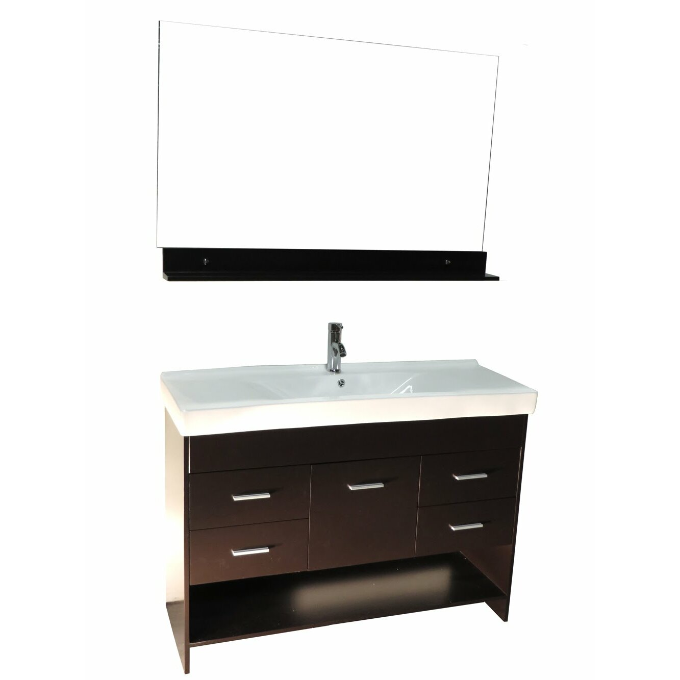 kokols 48 contemporary single ceramic sink bathroom vanity set wf 127