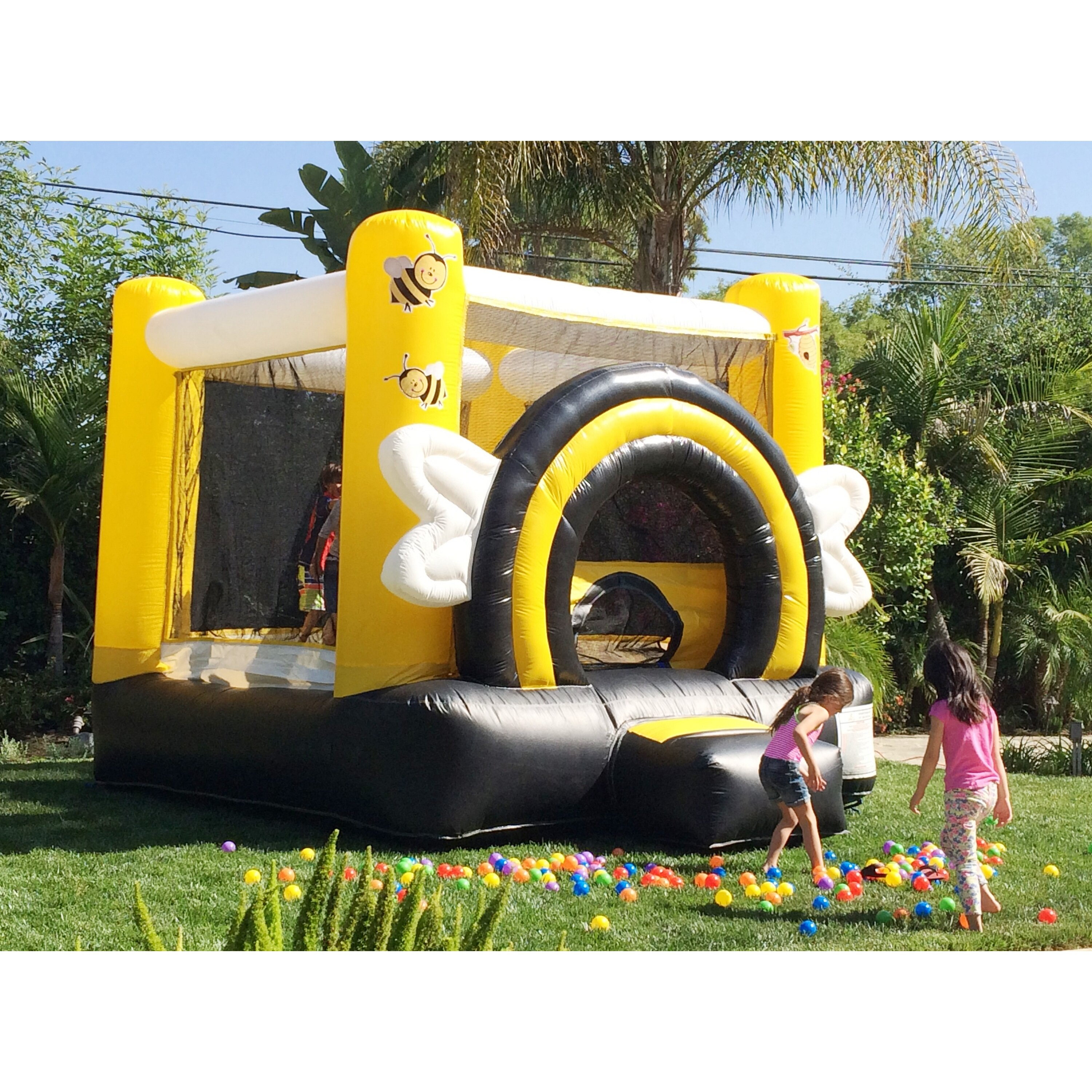 Busy Bees High Lane Jumporange Duralite Busy Bee Party Bounce House Joh