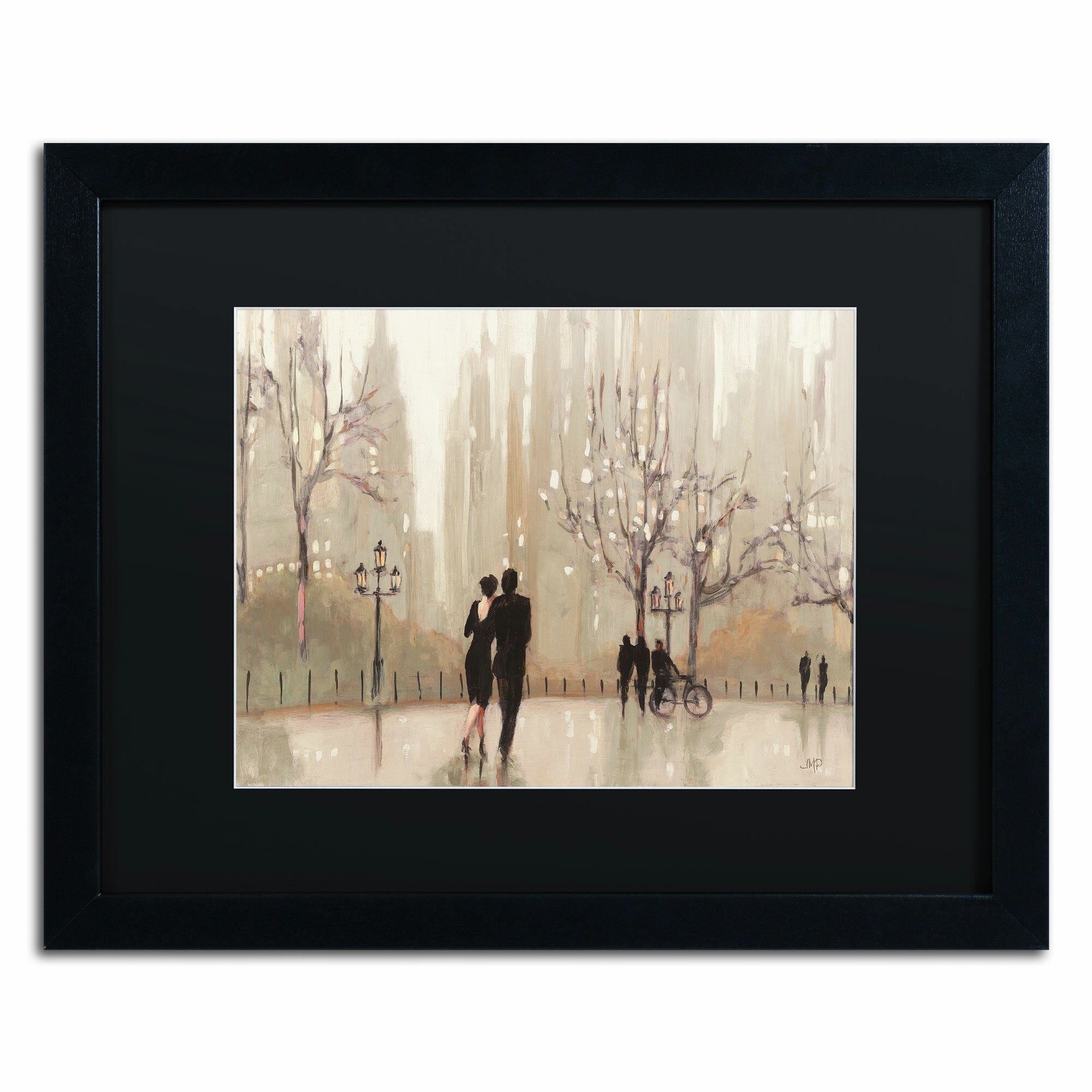 'An Evening Out Neutral' by Julia Purinton Framed Painting Print. '