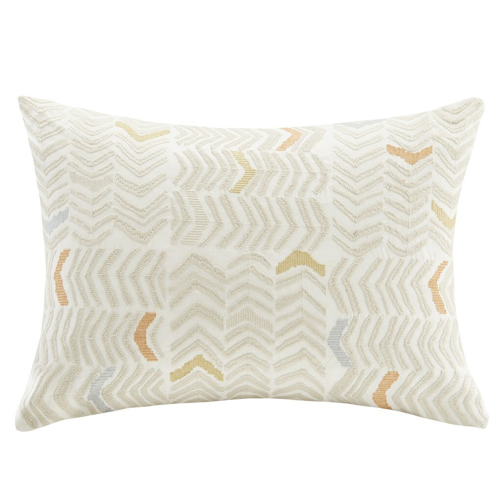 Ink Ivy Gregory Cotton Embroidered Square Pillow: Ink + Ivy Lina Embroidered Cotton Lumbar Pillow & Reviews