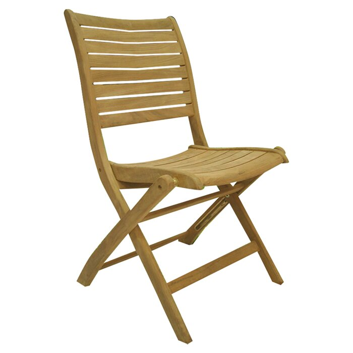home miami amazionia teak sydney folding dining side chair set of 2