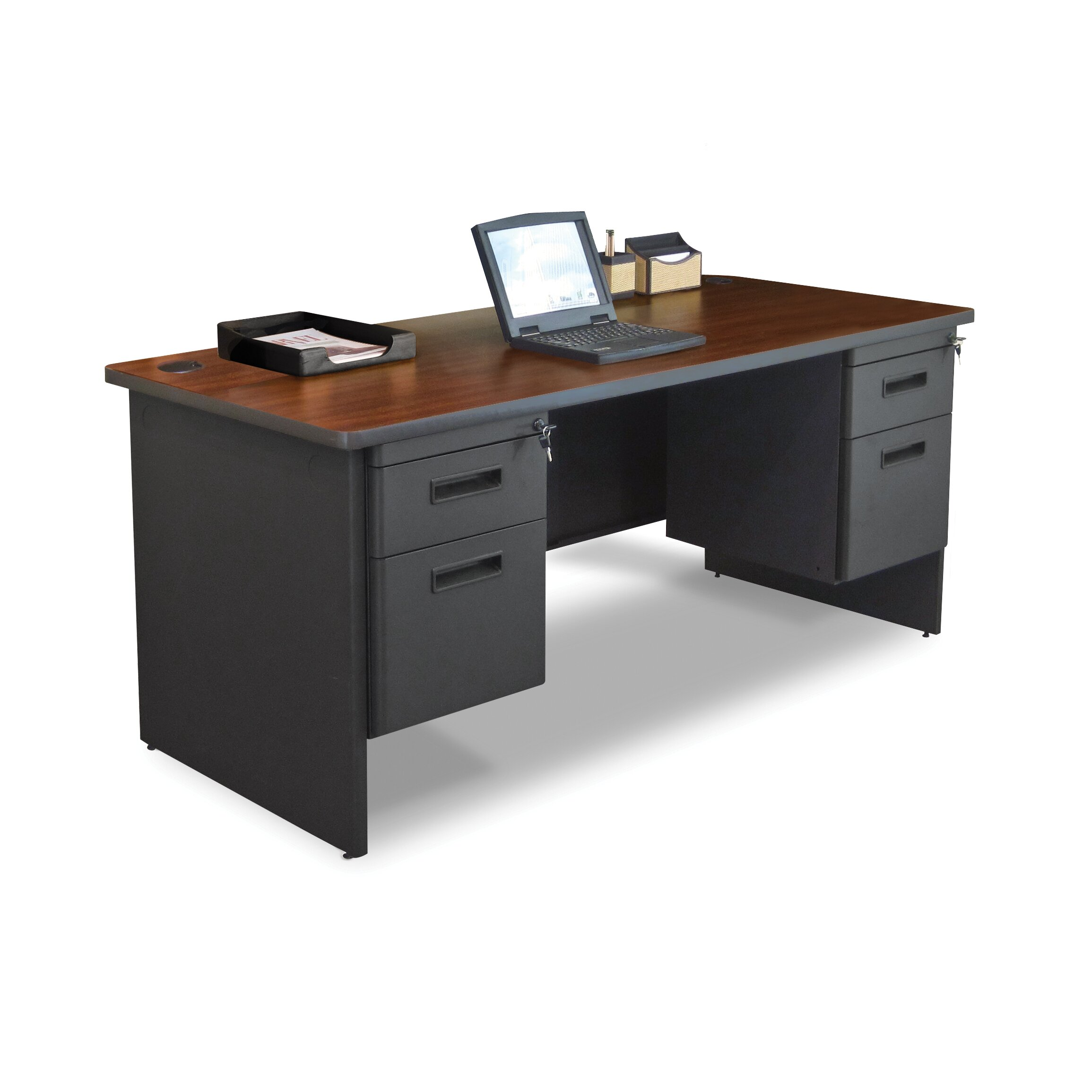 marvel office furniture pronto computer desk with 4