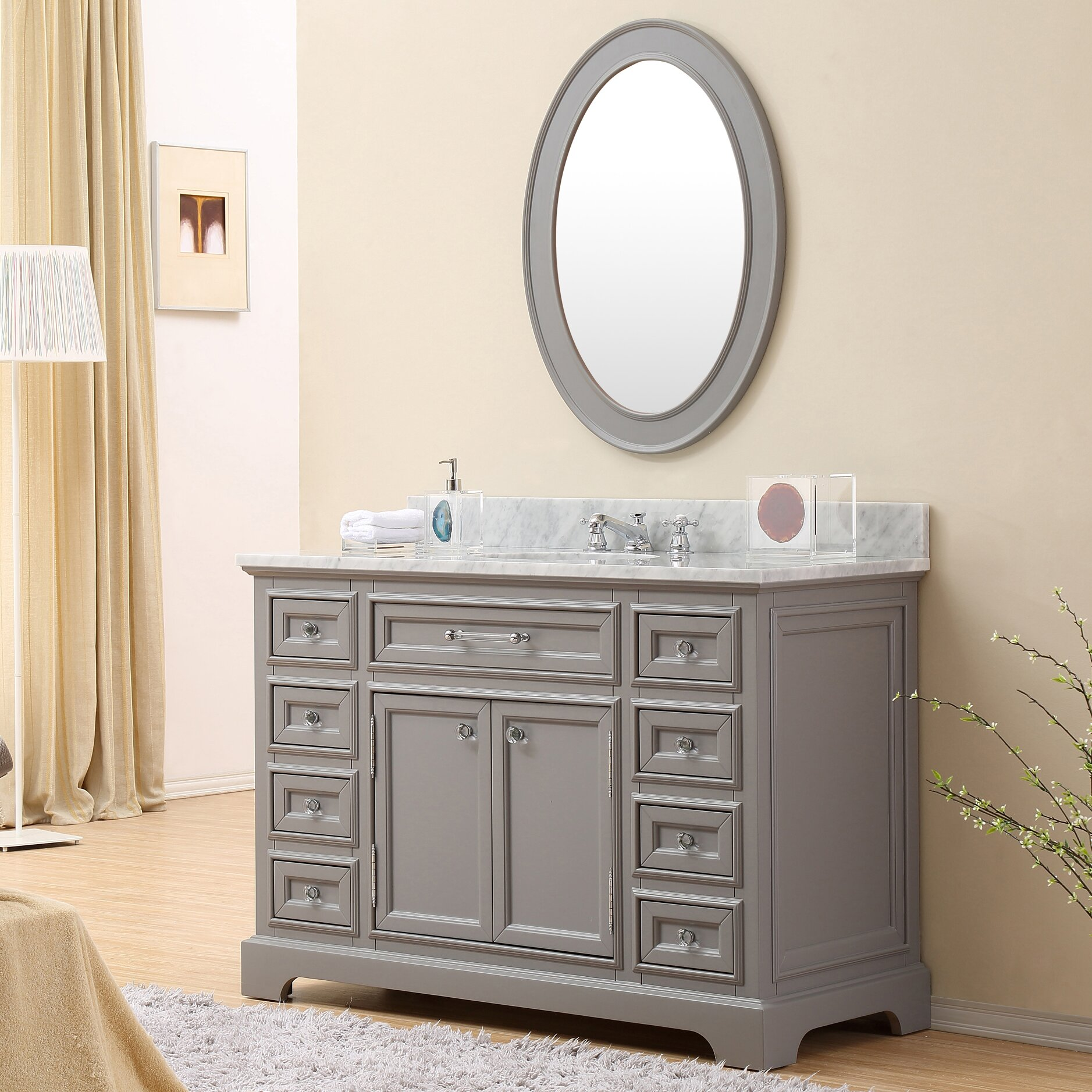 castleton home 48 single sink bathroom vanity set reviews wayfair