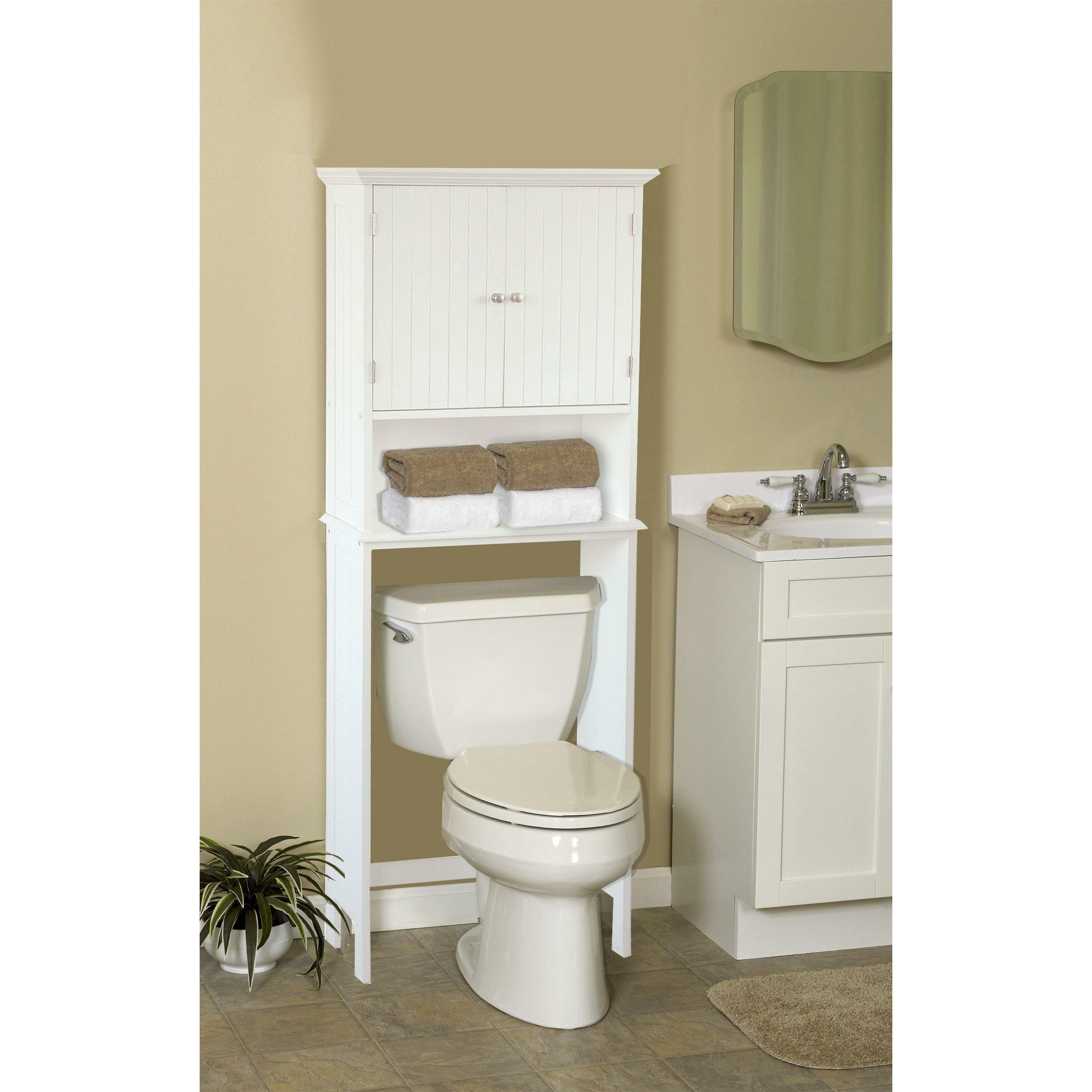 Jenlea bathroom space saver free standing cabinet reviews wayfair for Bathroom space saver cabinets