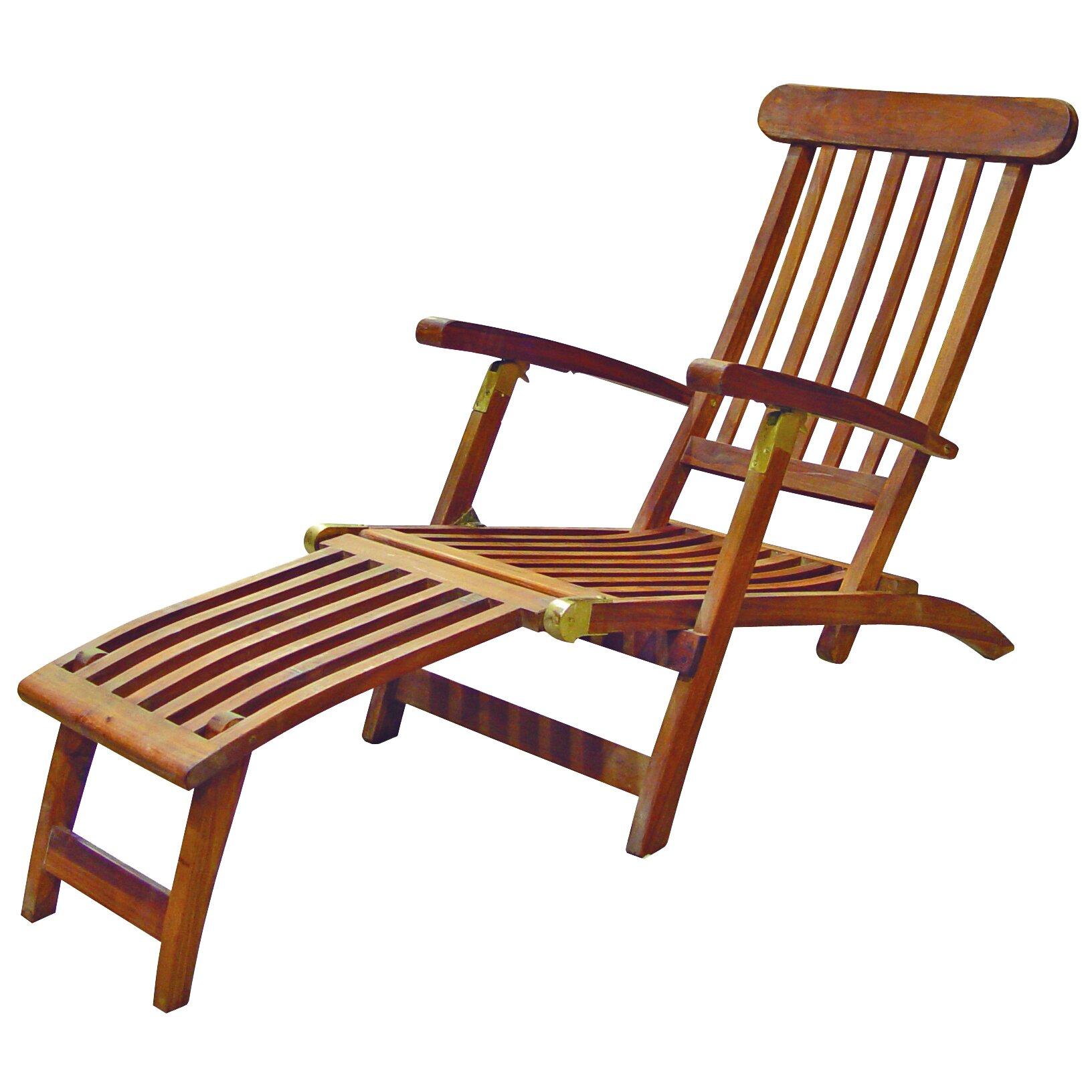 SeaTeak Britannia Folding Steamer Lounge Chair & Reviews