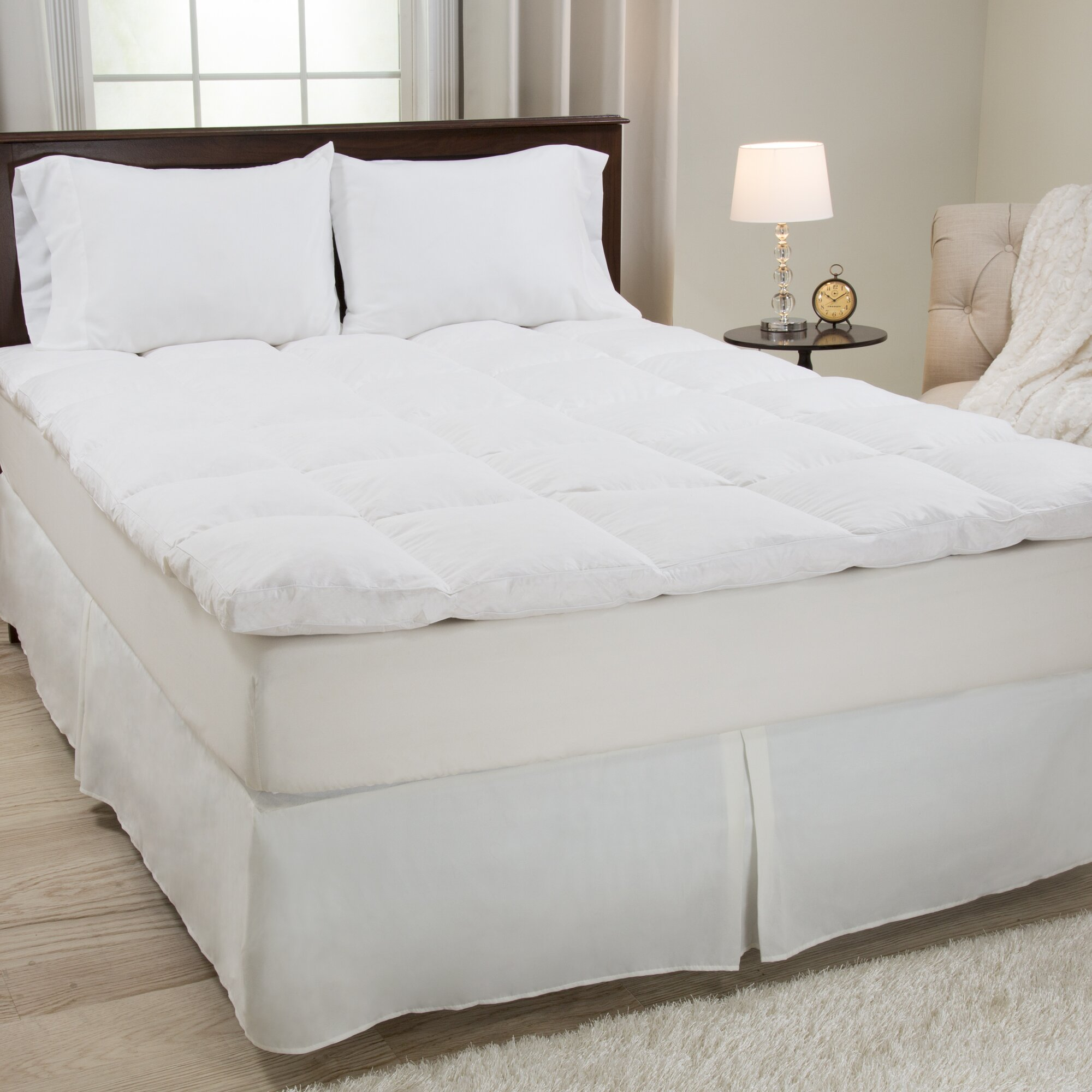 Lavish Home Duck Feather 233 Thread Count Mattress Topper