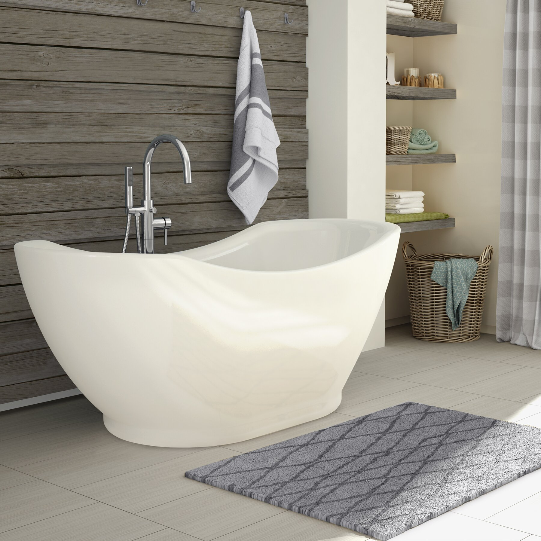 a amp e bath and shower salacia 67 quot x 28 quot soaking bathtub kit mb stone care bath and shower kit hardwood guides