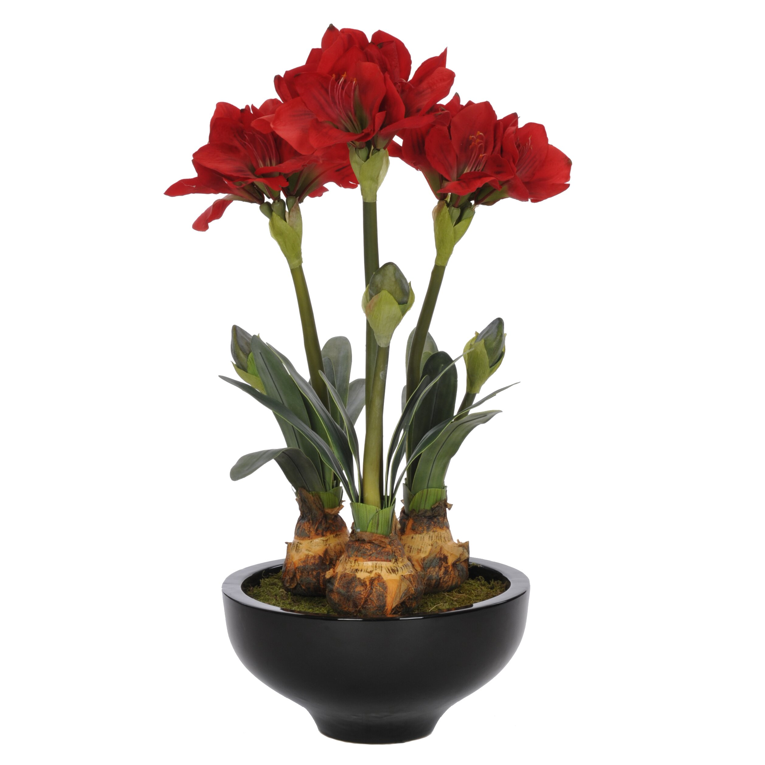 Flower Pots With Artificial Flowers Artificial Amaryllis In Pot Hf Rb
